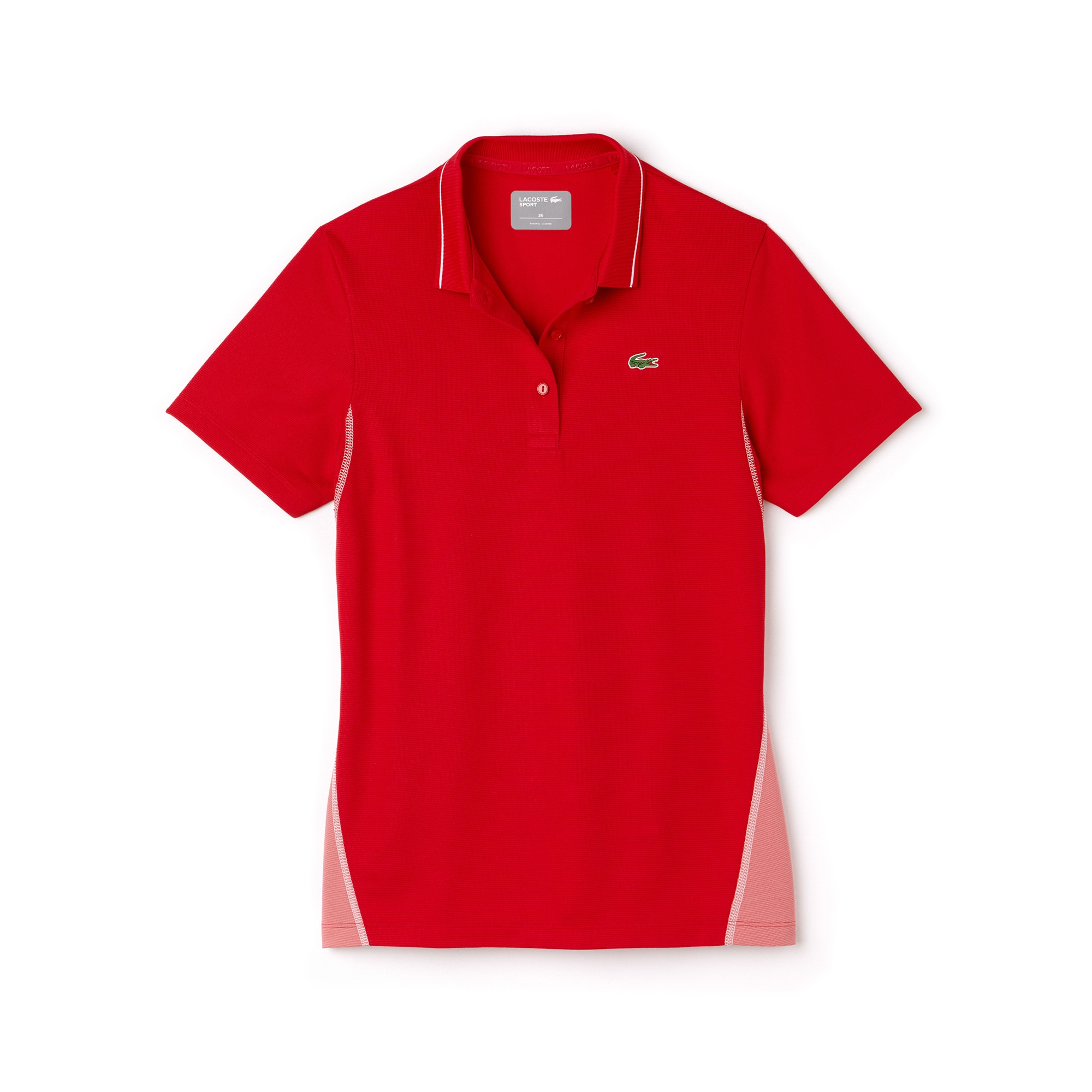 Polo Golf Lacoste SPORT en malla de algodón técnico bicolor
