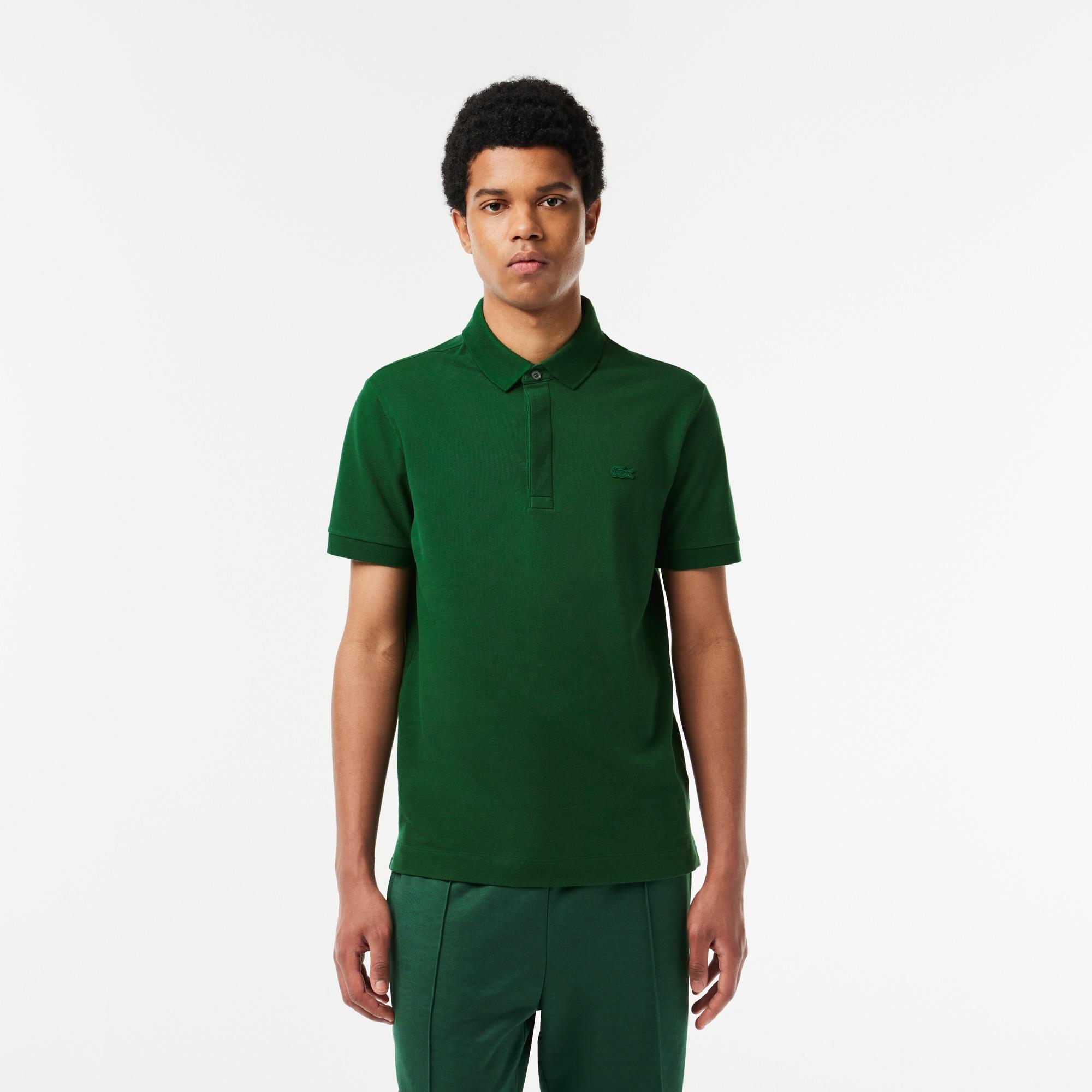 Polo regular fit Lacoste de piqué de algodón de rayas elástico Edición Paris Polo