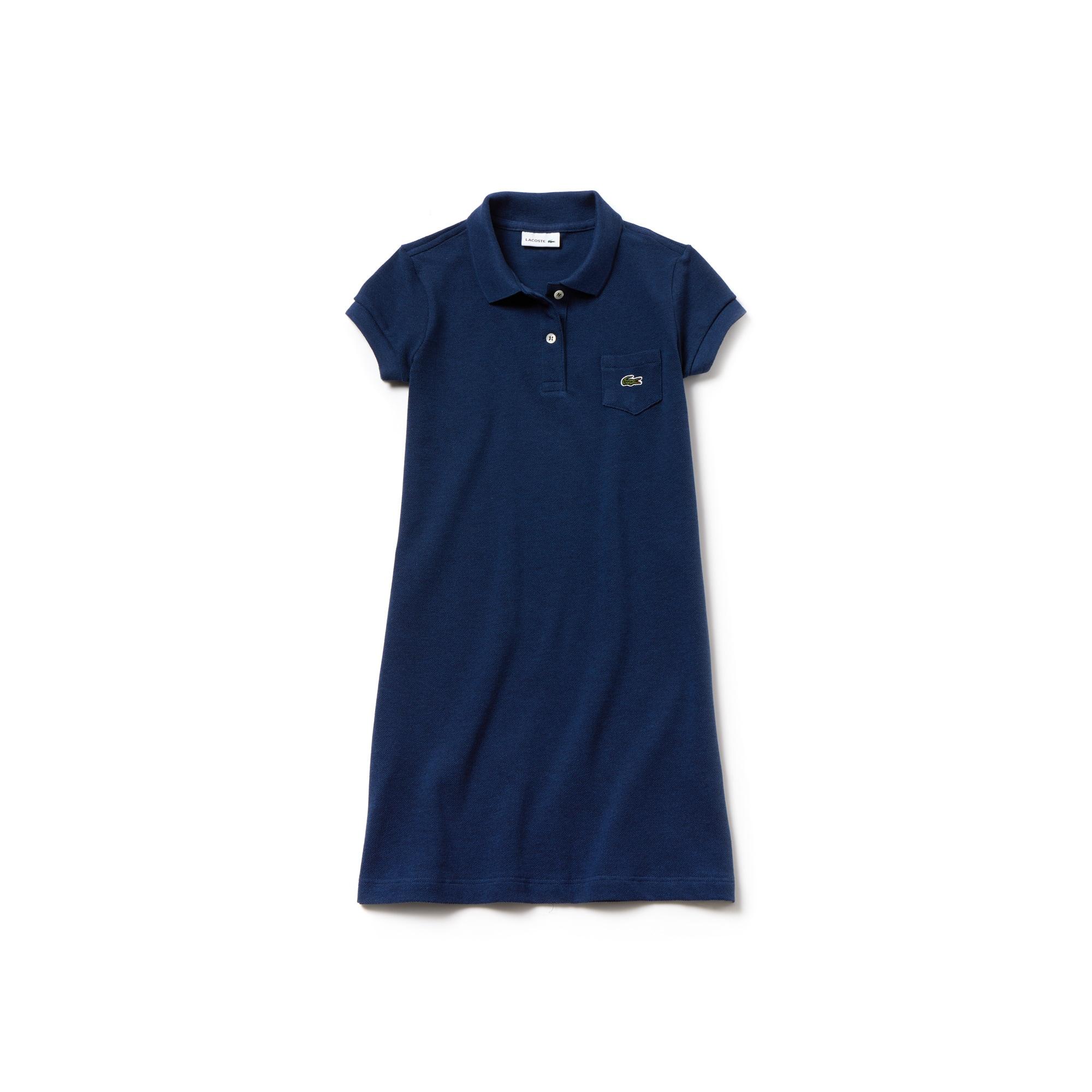 Vestido Acampanado En Mini Piqué De Algodón