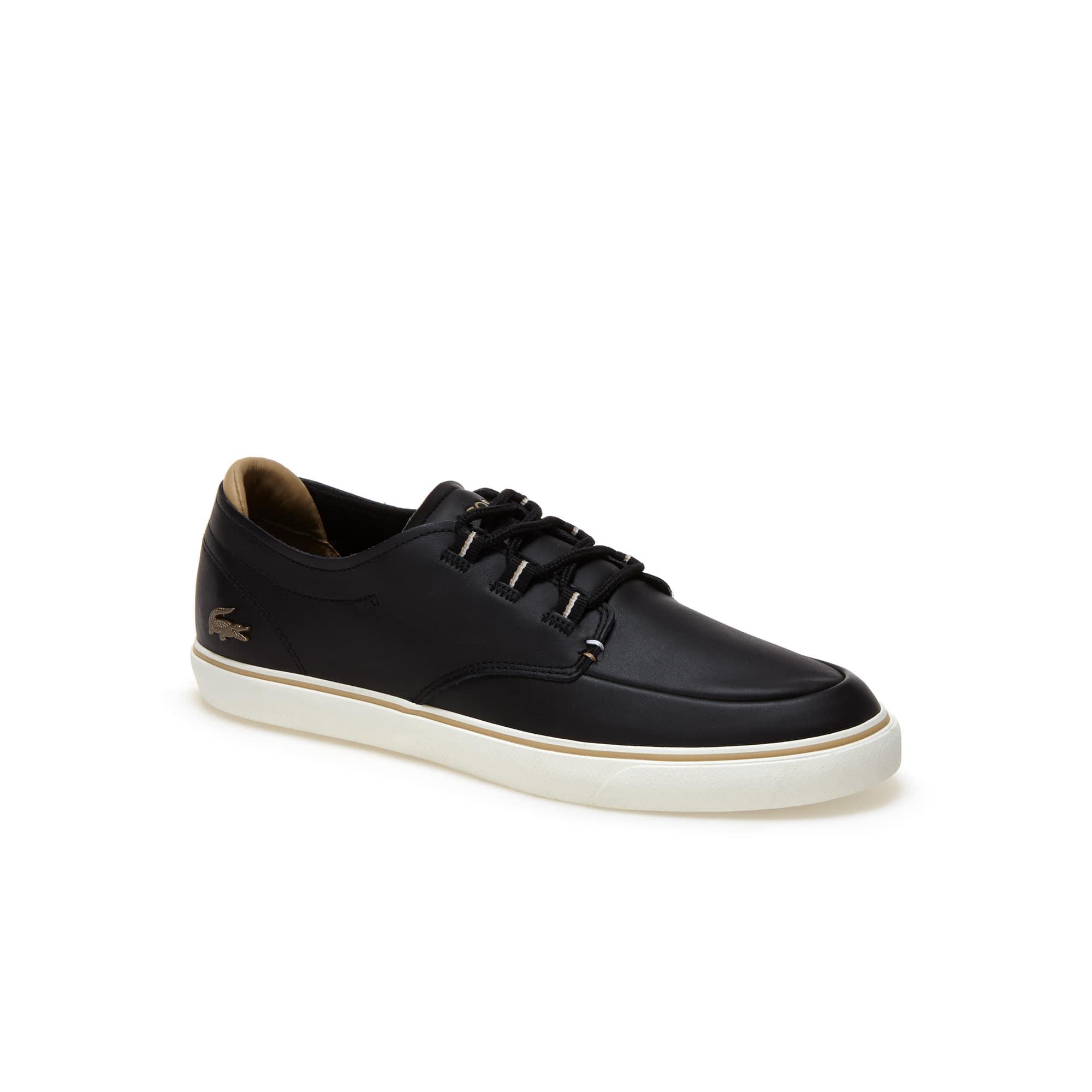 Lacoste ESPARRE DECK - Zapatillas black/light brown 50MEVB