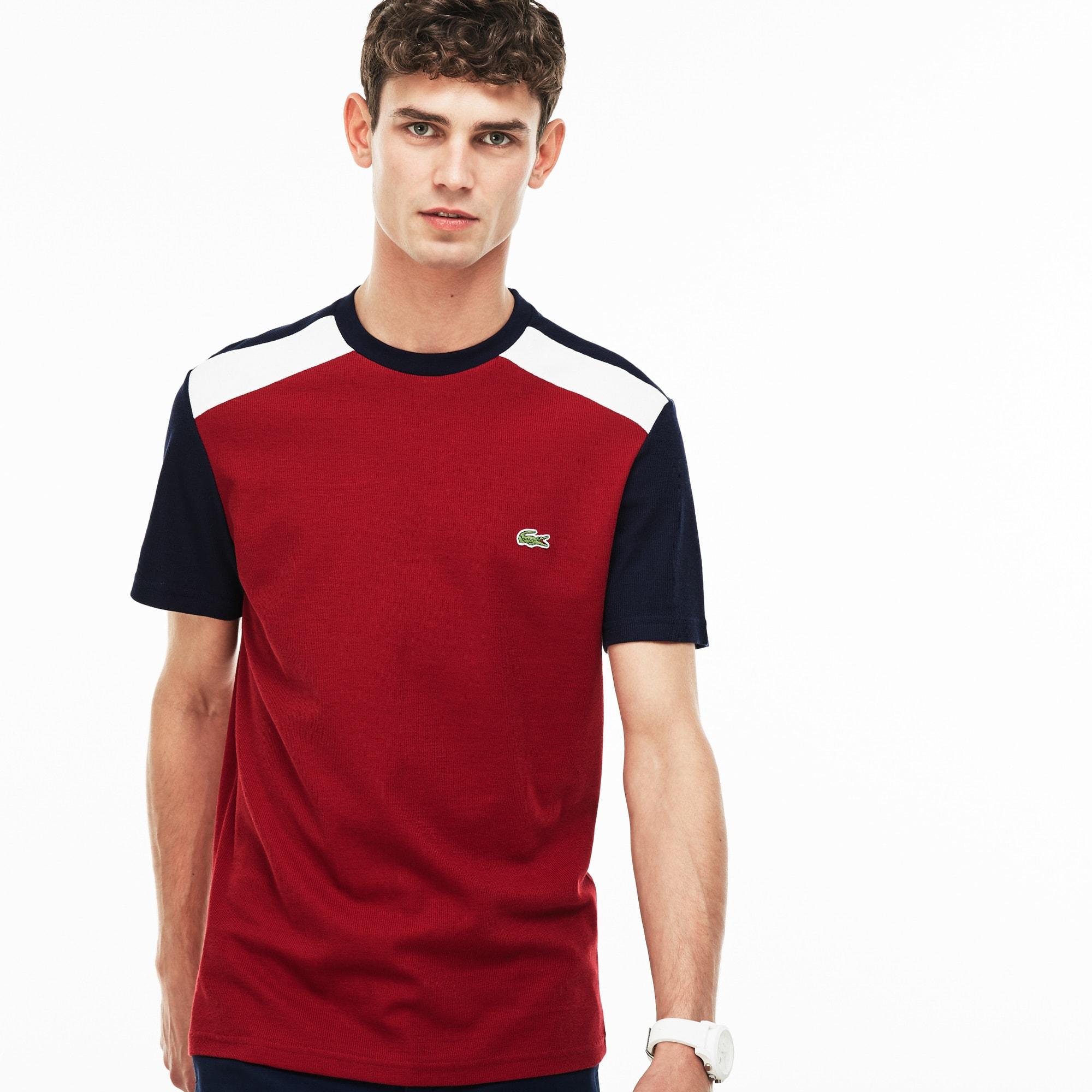 Men's Crew Neck Colorblock Jersey And Piqué T-shirt