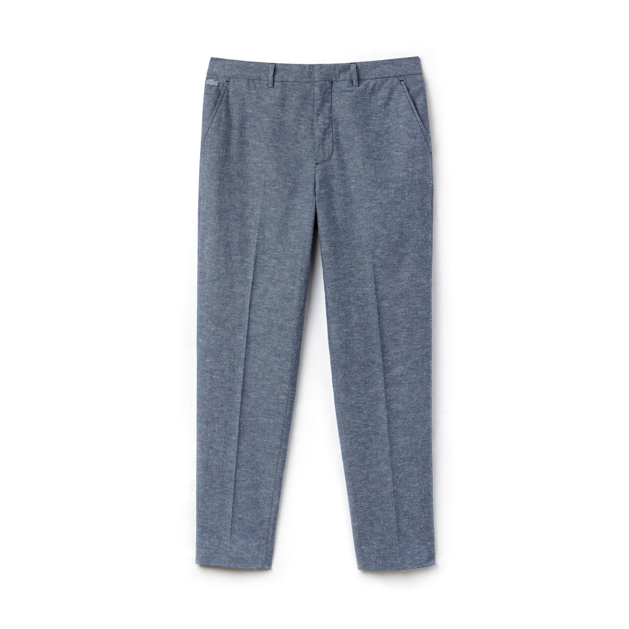 Pantalón chino con pinzas Lacoste LIVE de cambray liso