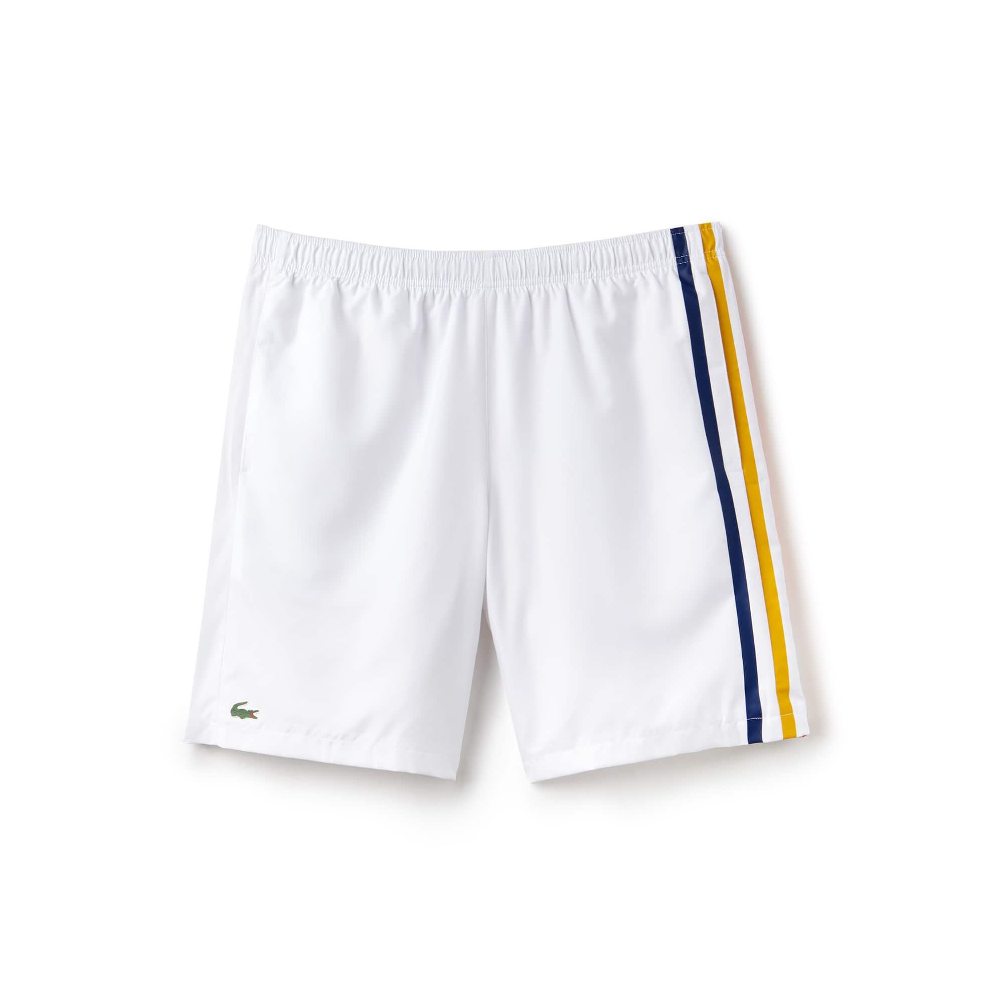 Pantalón corto de tafetán con franjas de colores Tenis Lacoste SPORT