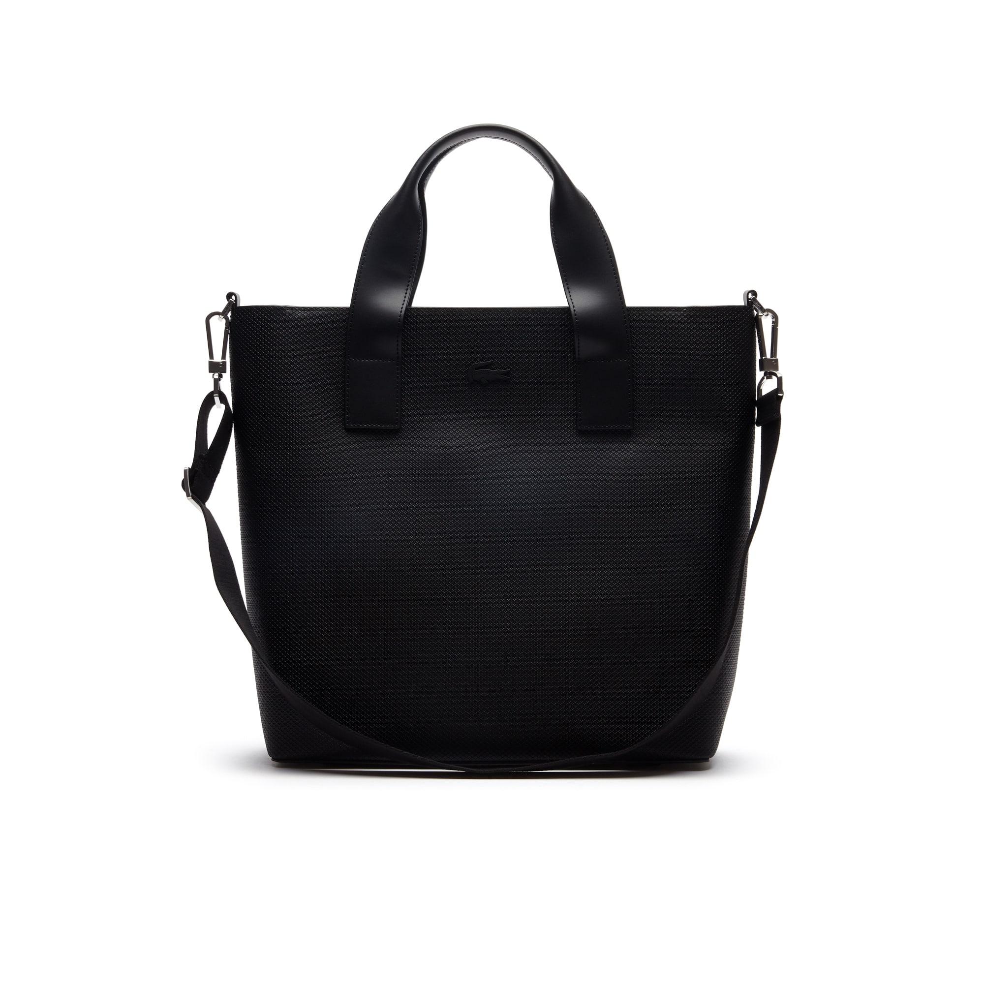 Men's Chantaco Piqué Leather Vertical Tote Bag