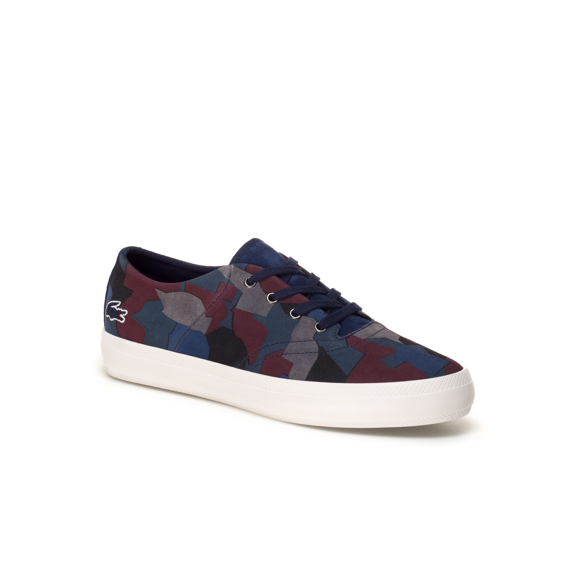 Lacoste LIVE René Chunky sneakers in printed suedette