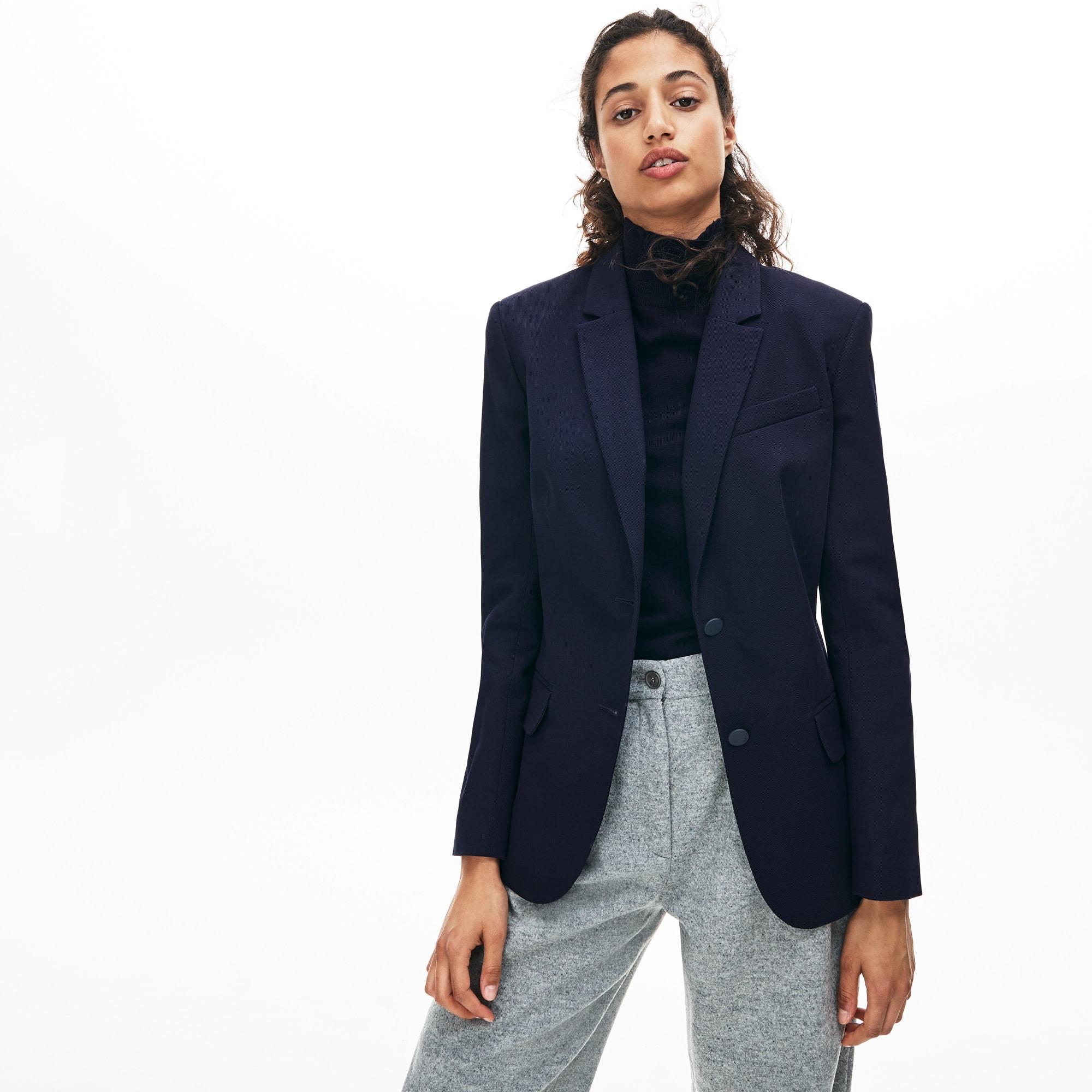 diseño atemporal 8b775 d48a6 Blazer de mujer slim fit en algodón stretch   LACOSTE