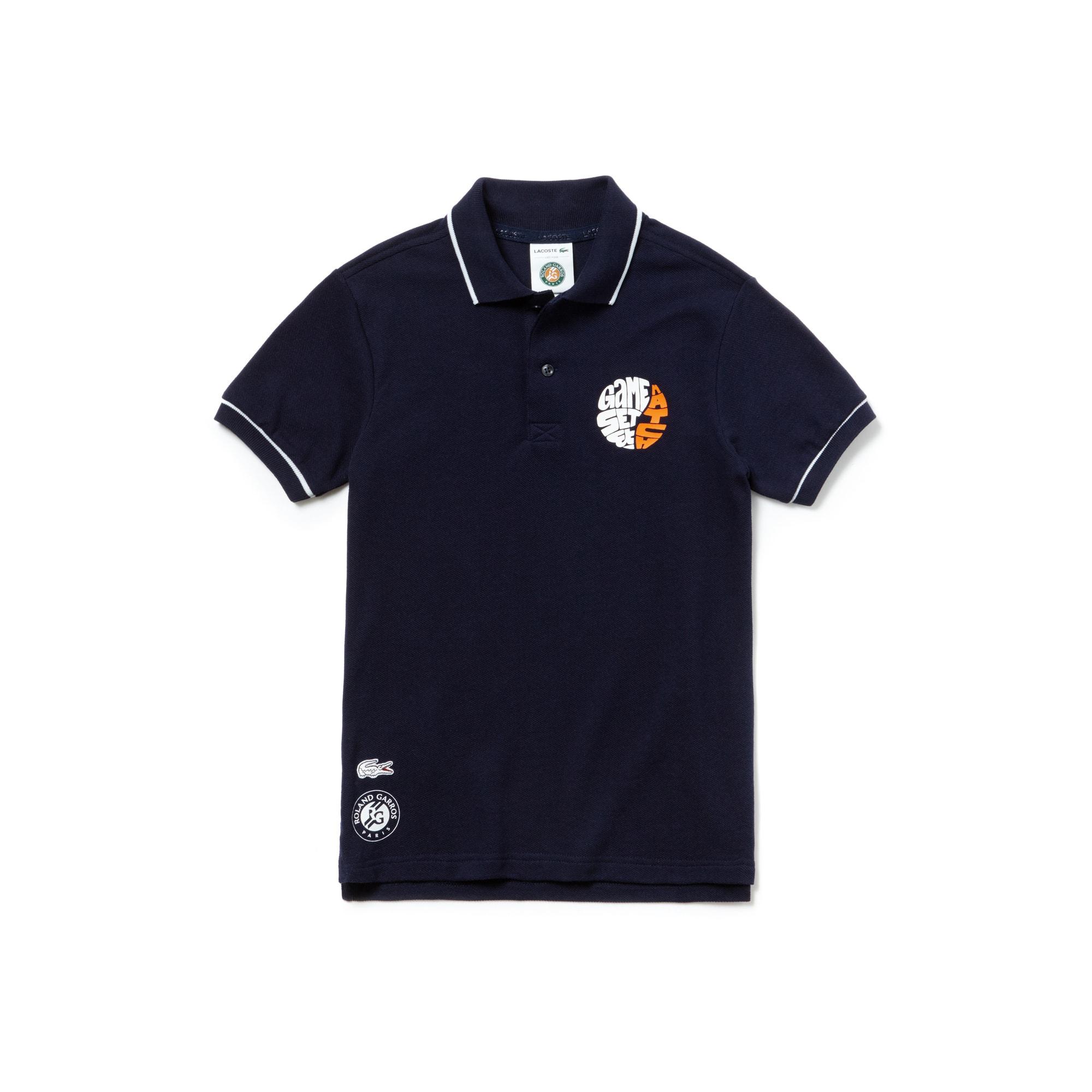 4f57d23827003 Polo niño Lacoste SPORT de pequeño piqué Edición Roland Garros ...