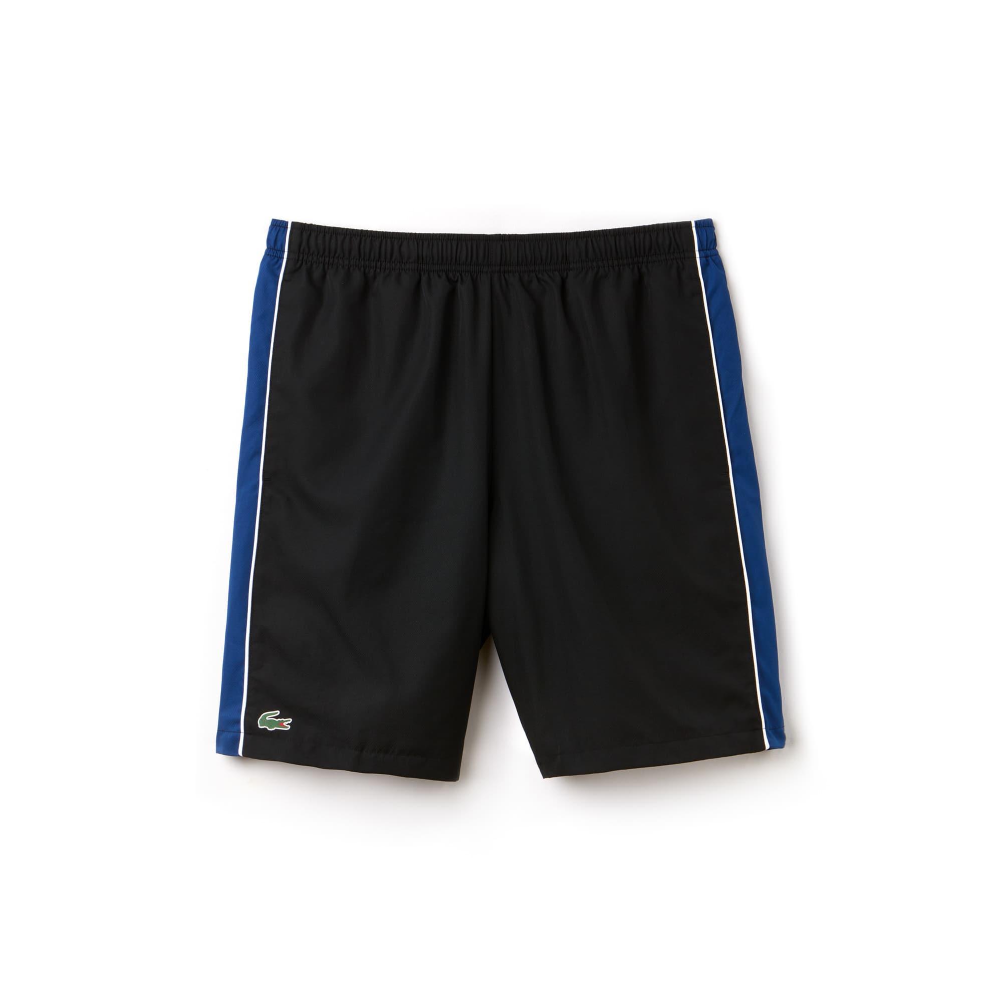 Pantalón Corto Lacoste Sport Colección Novak Djokovic De Tafetán Color Block