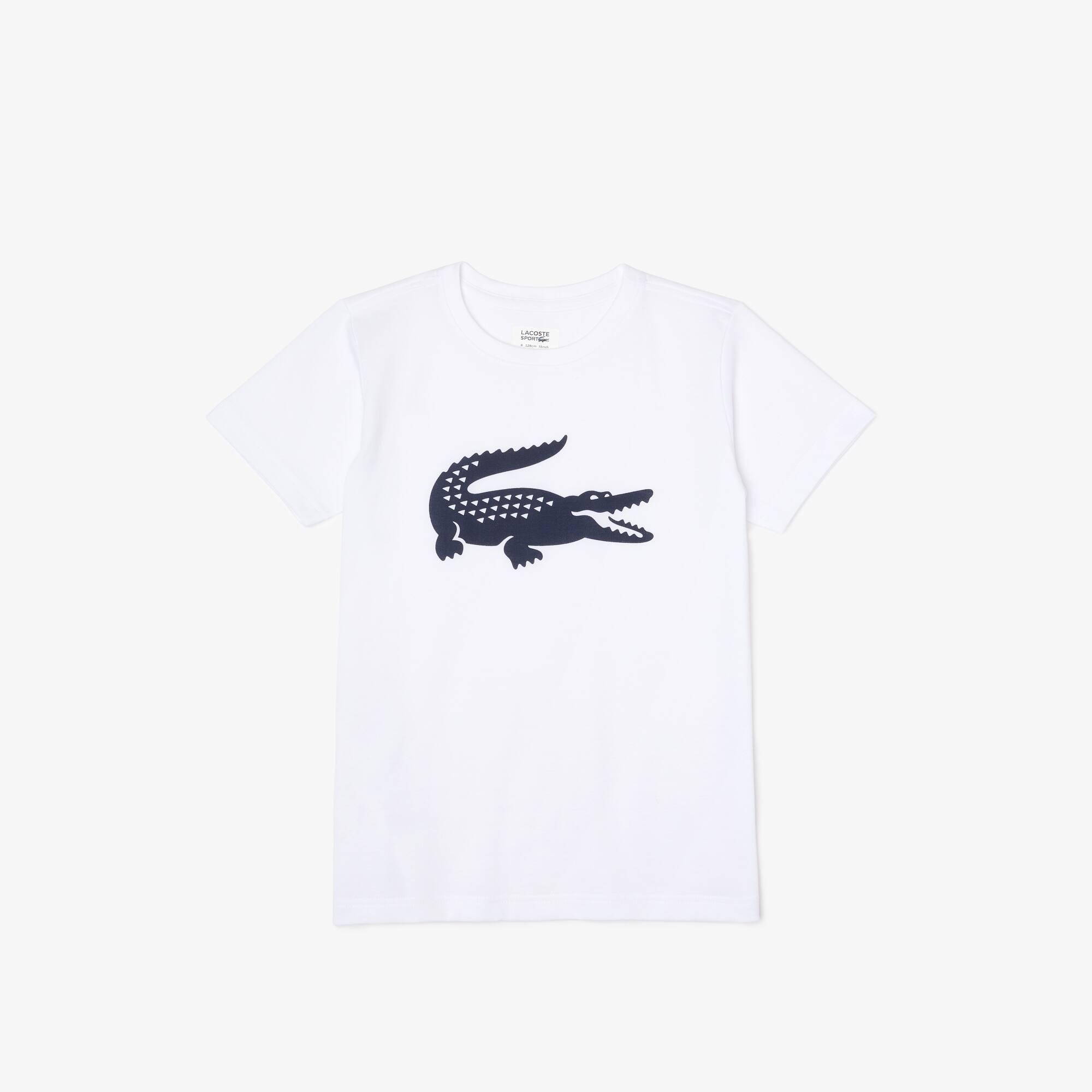 Camiseta infantil de tejido de punto técnico con gran cocodrilo Lacoste SPORT Tennis
