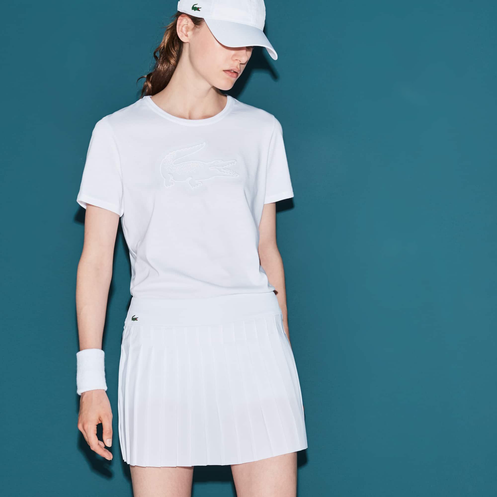 Women's Lacoste SPORT Tennis Croc Embroidery Tech Jersey T-shirt