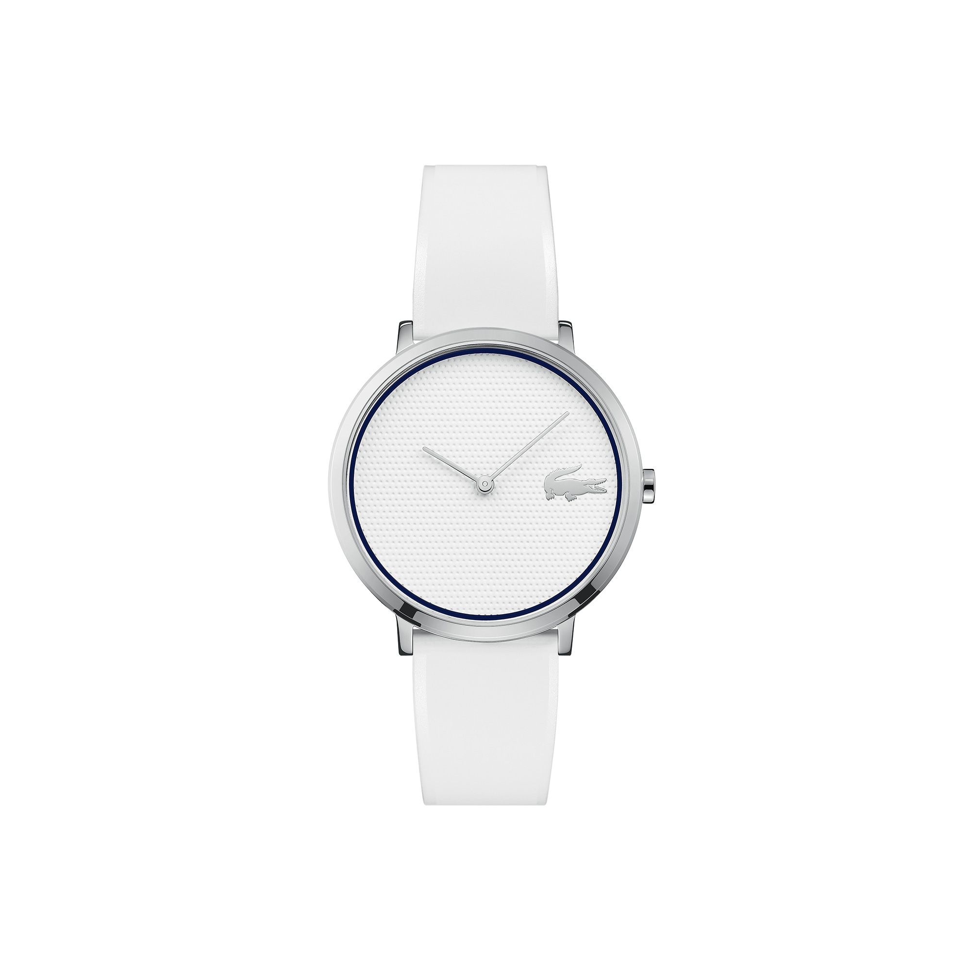 Reloj de Mujer Moon Golf Ultrafino con Correa de Silicona Blanca