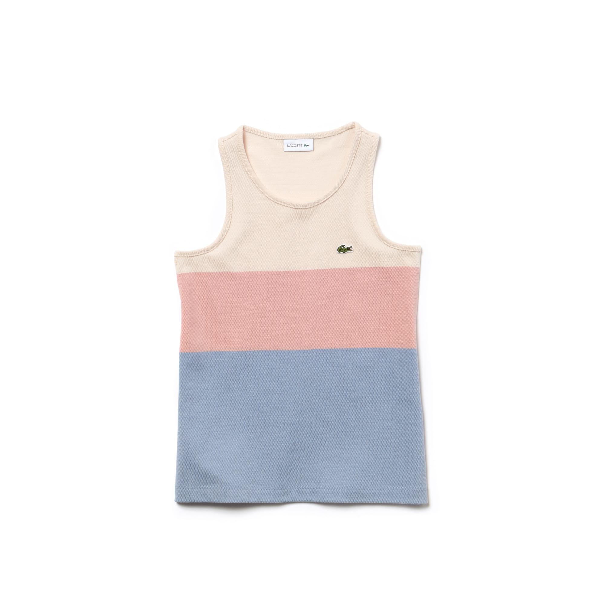 Girls' Colorblock Cotton Piqué Top