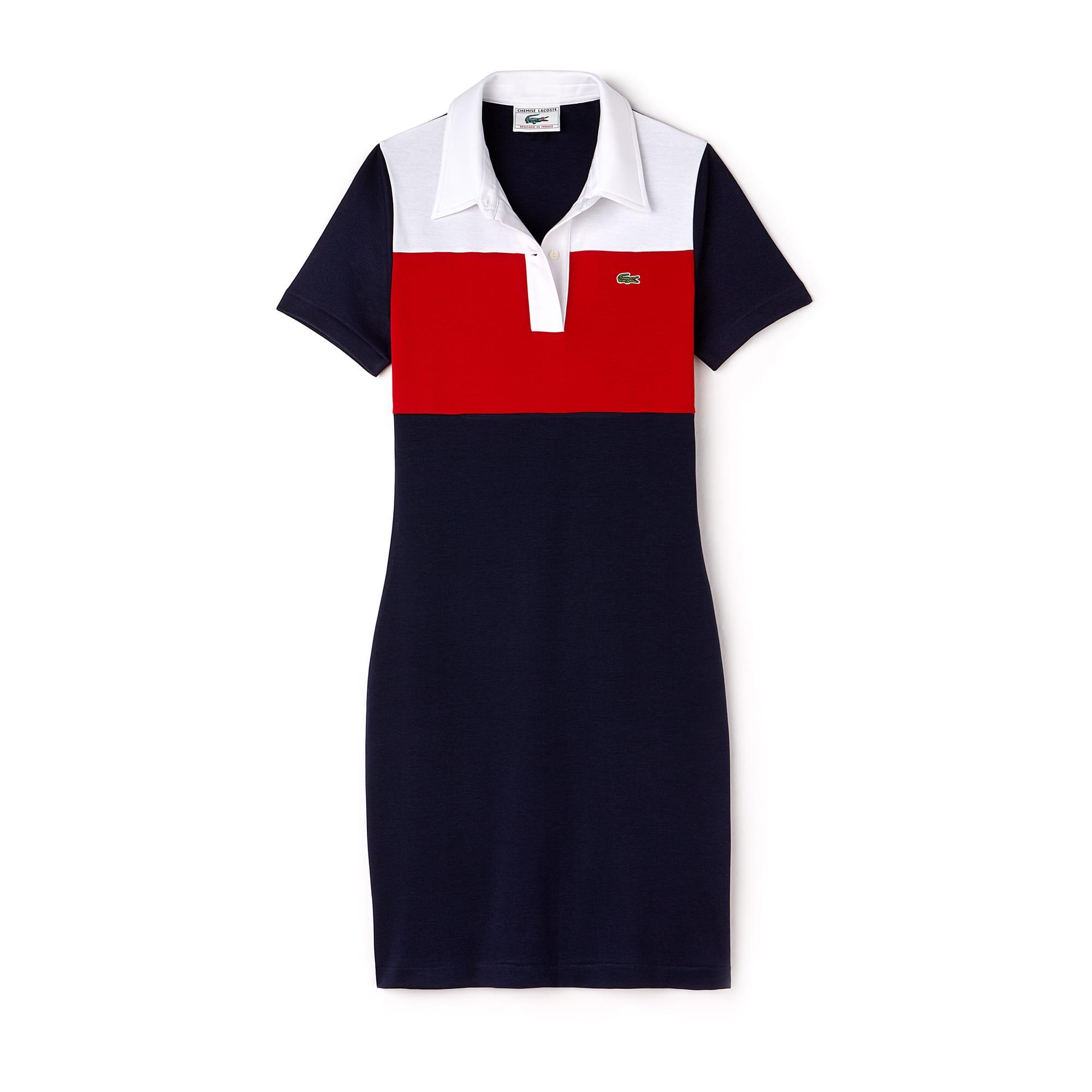 Vestido polo Lacoste de punto interlock Edición limitada Aniversario 85 años