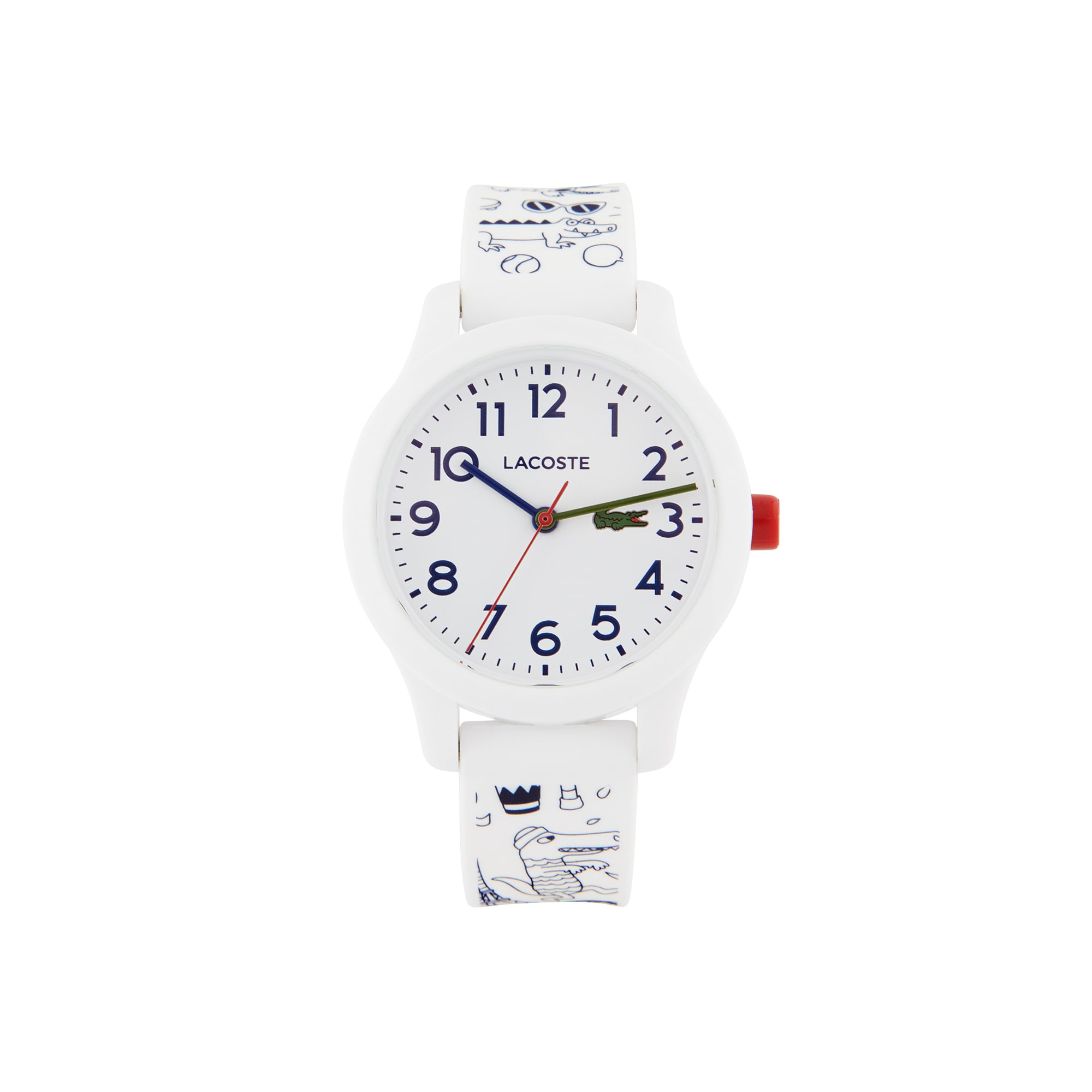 Child's Lacoste 12.12 OMY Limited Edition with White Silicone Strap