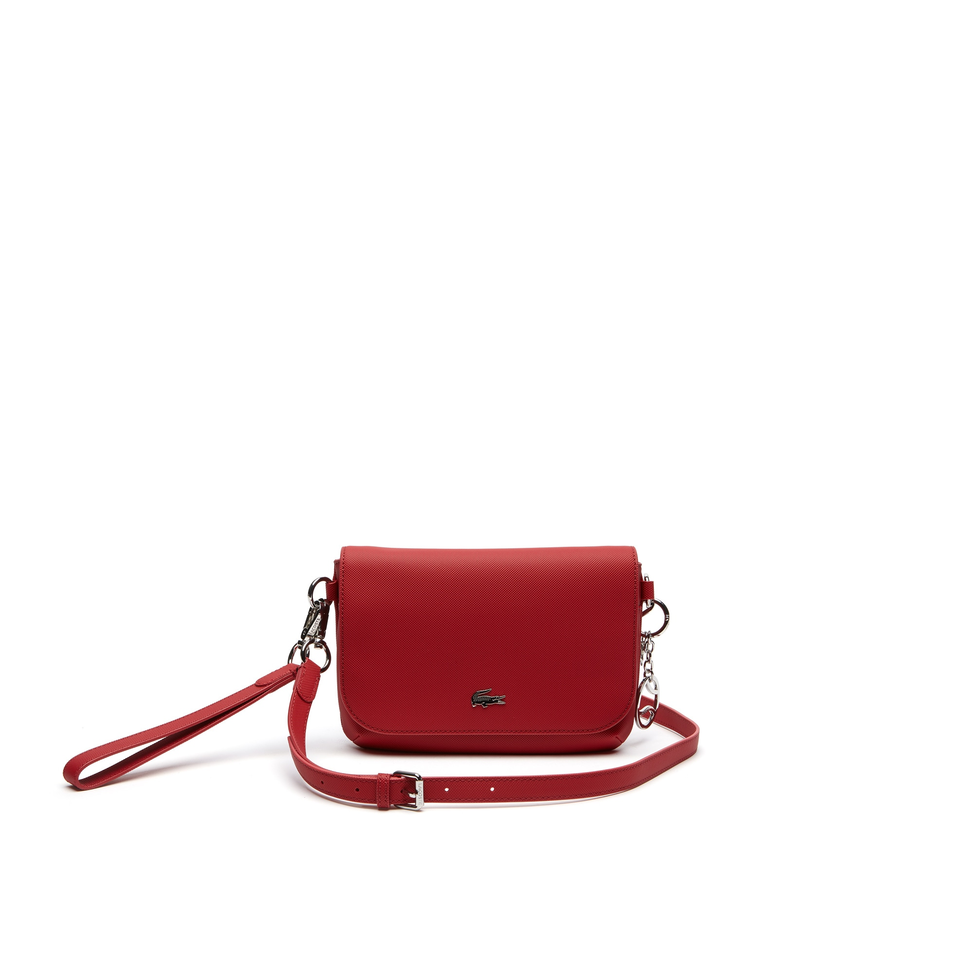 Women's Daily Classic Coated Piqué Canvas Flap Crossover Bag