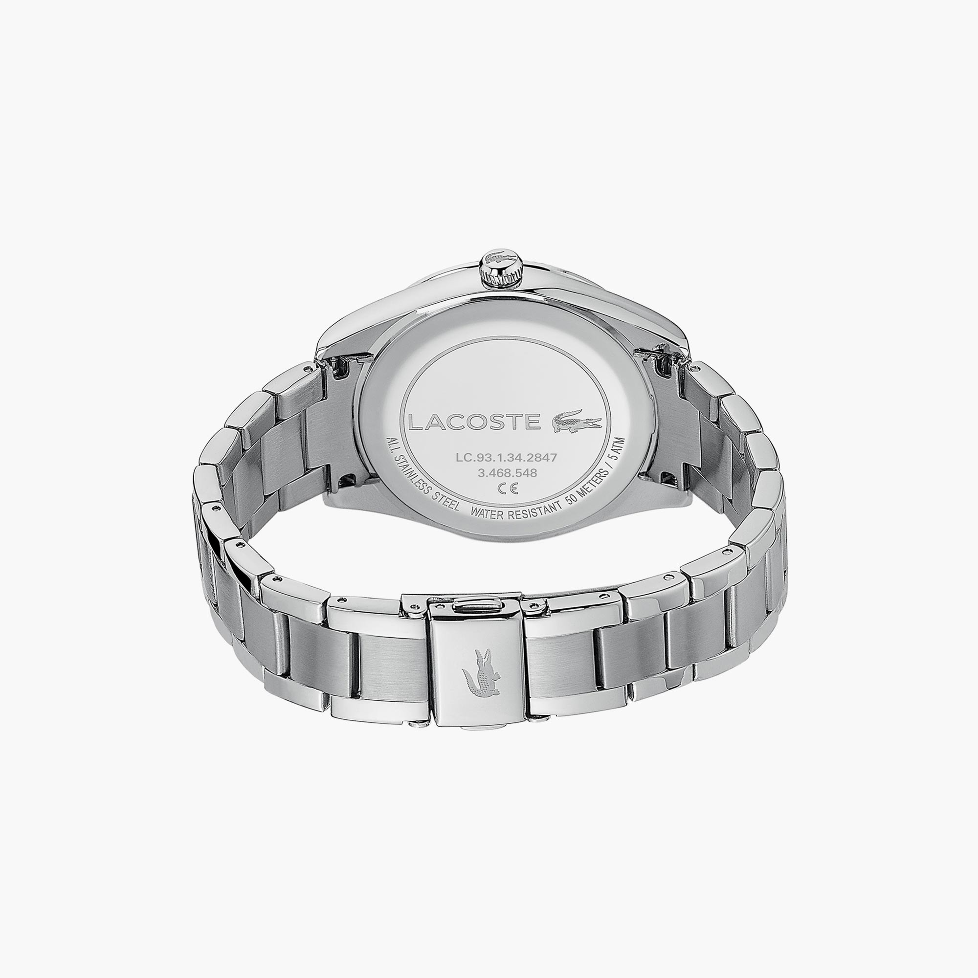 Ladies Lacoste Parisienne Watch with Matte / Shinny Silver Strap