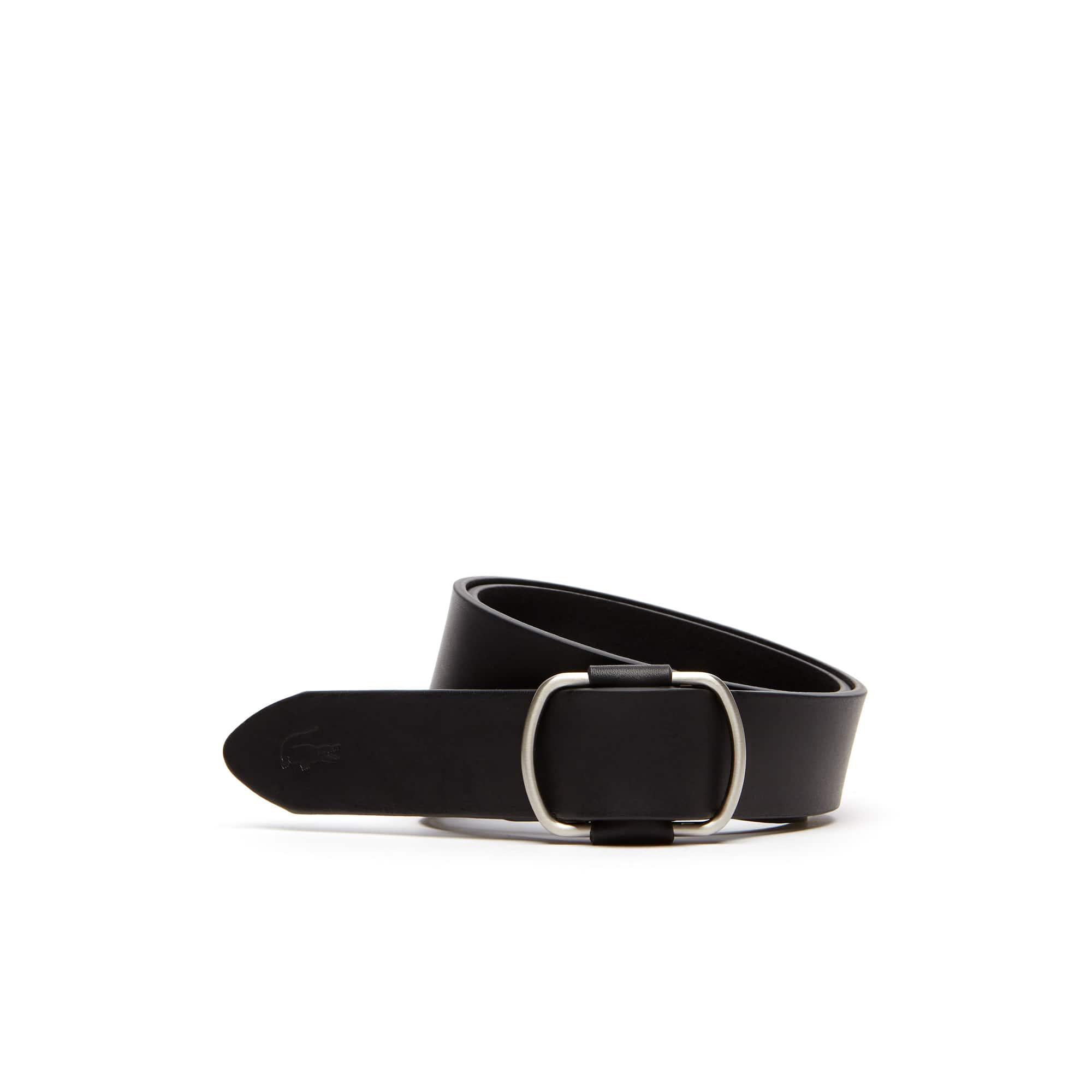 Women's Double D-Ring Buckle Leather Belt