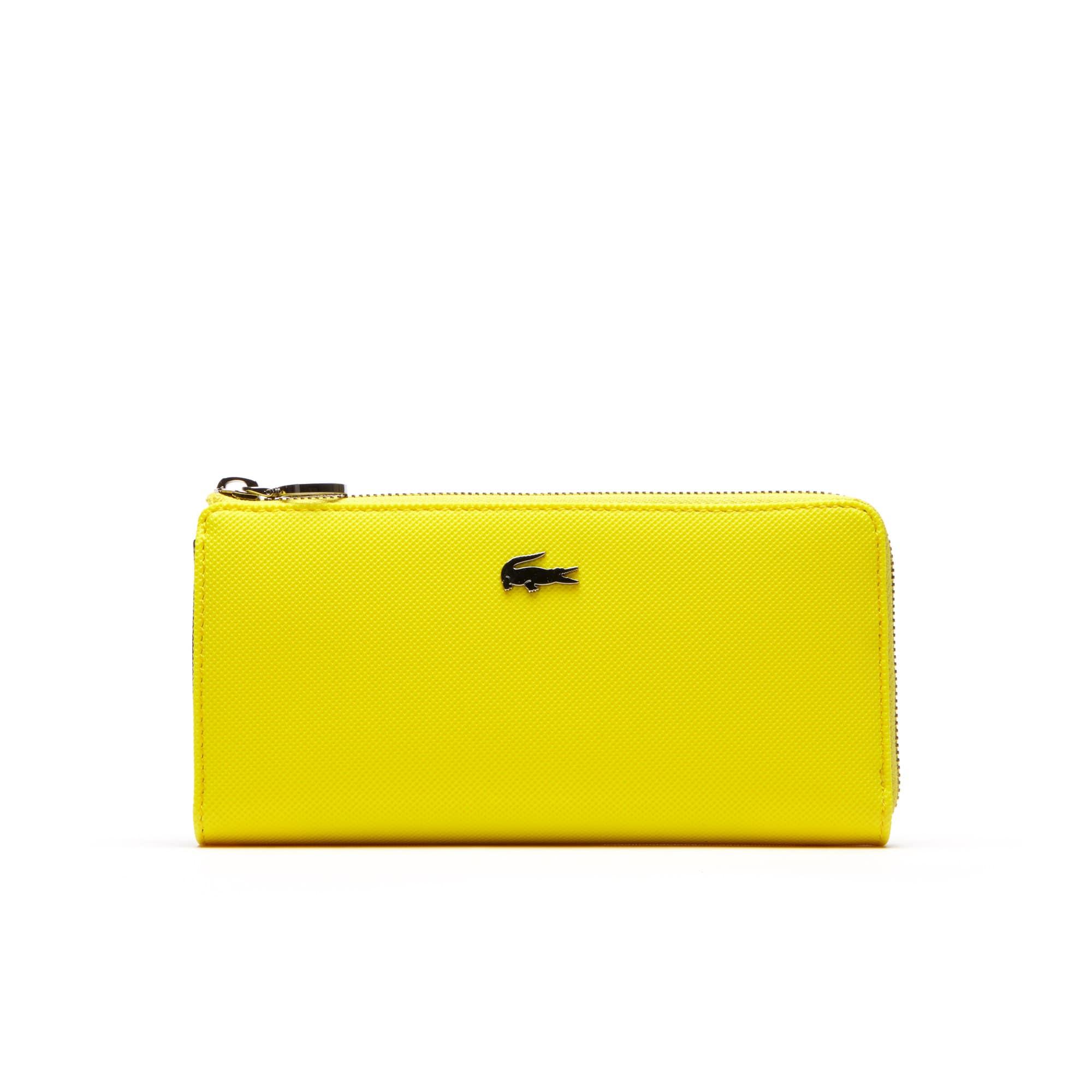 Women's Daily Classic Fine Piqué Grains Zip Wallet