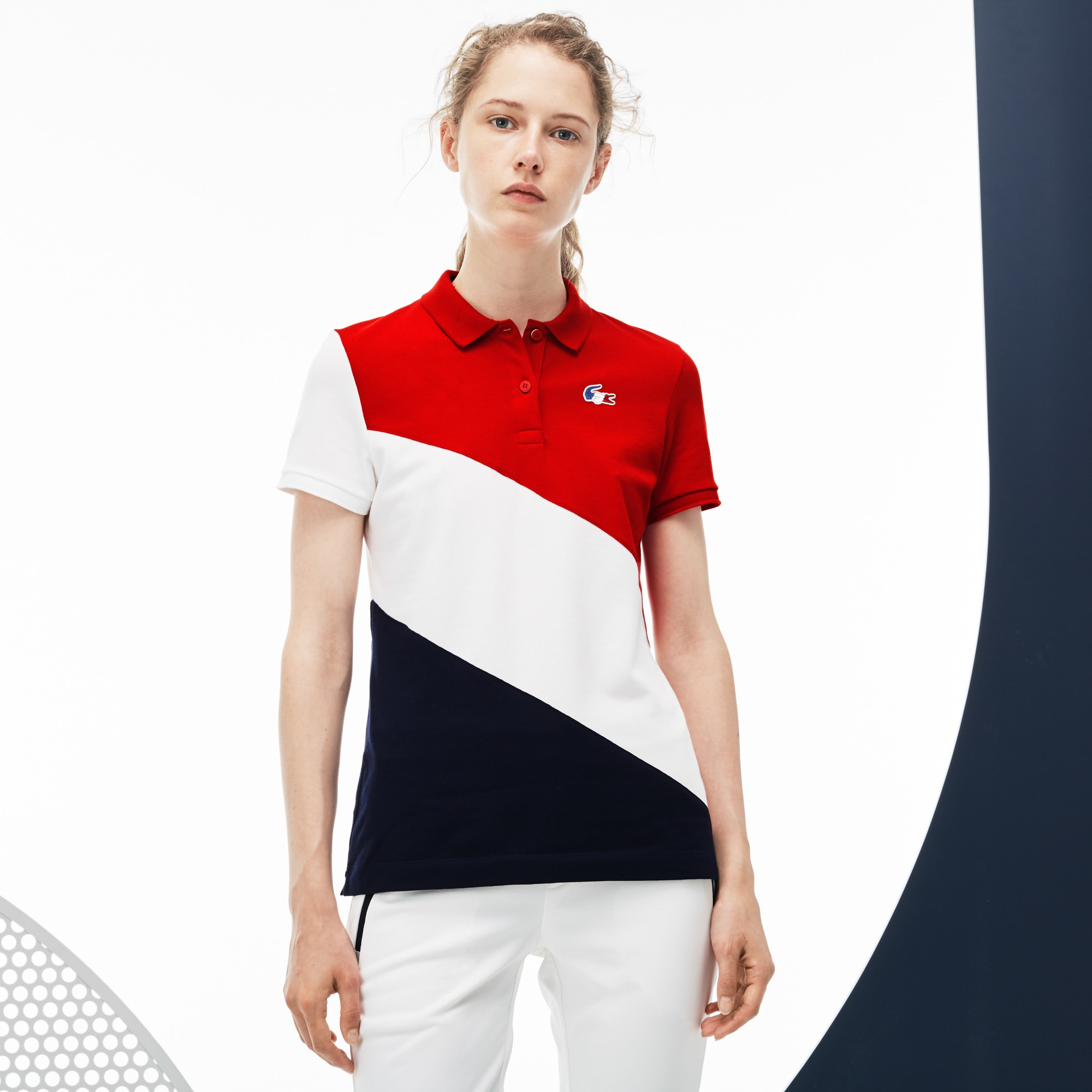 Women's Lacoste SPORT JO Edition Colorblock Mini Piqué Polo
