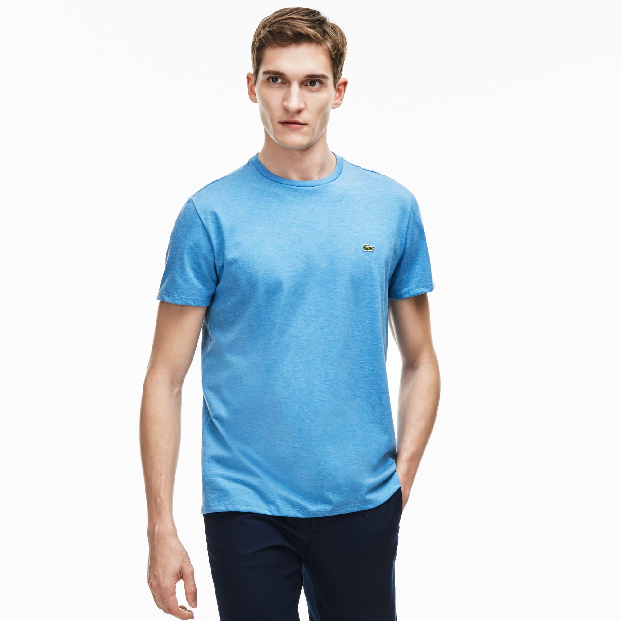 Camiseta de hombre de tejido de punto de algodón Pima con cuello redondo