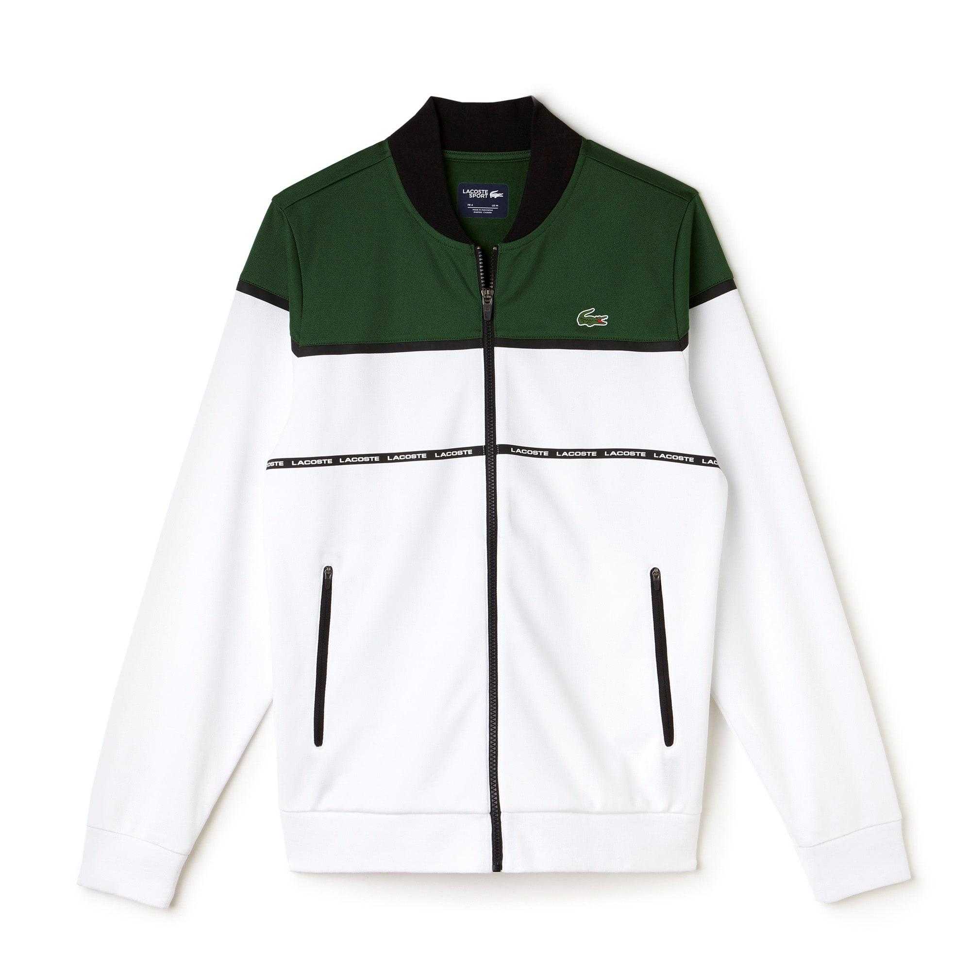 Men's Lacoste SPORT Tennis Colorblock Tech Piqué Zippered Jacket