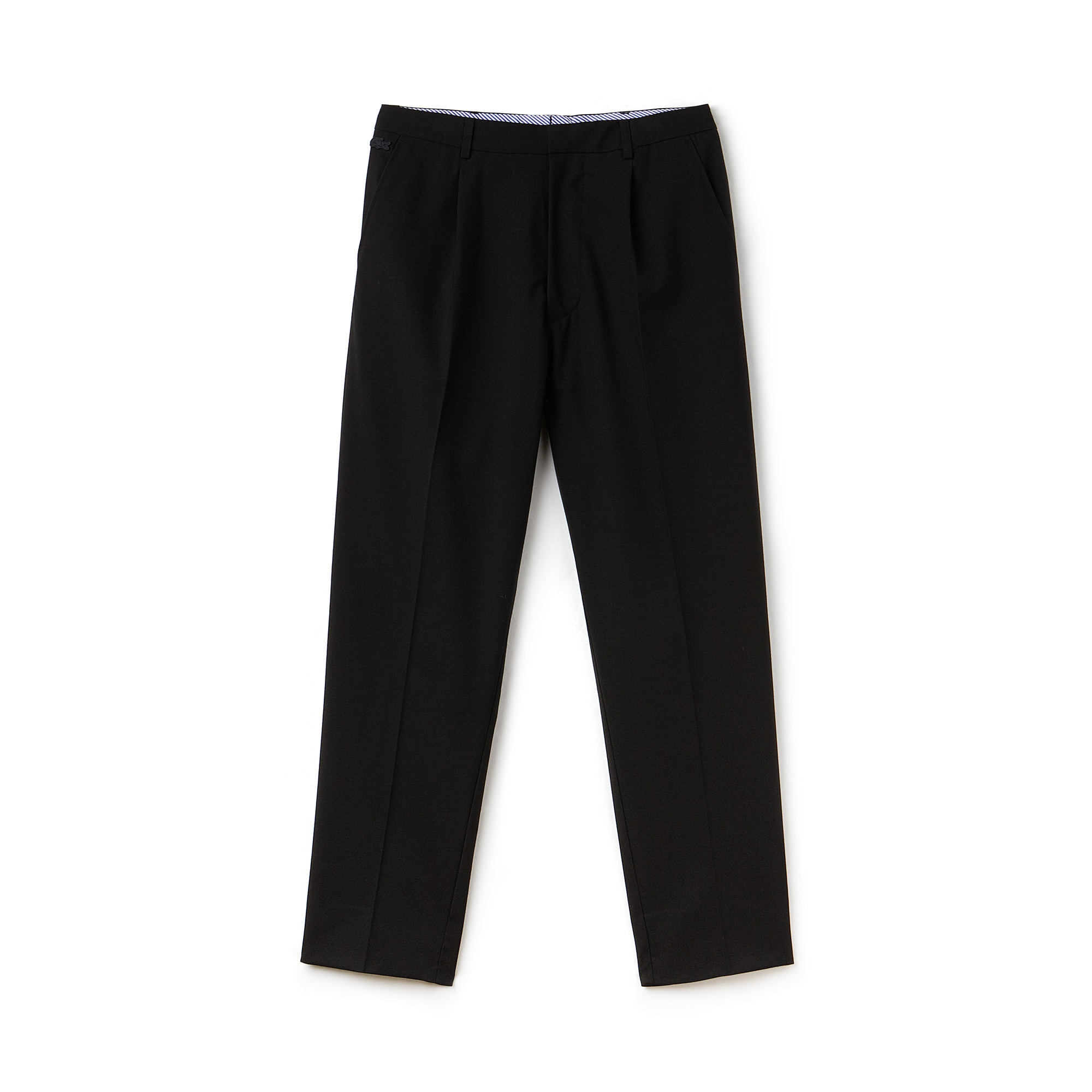 Pantalón chino con pinzas Lacoste LIVE de crepé elástico liso
