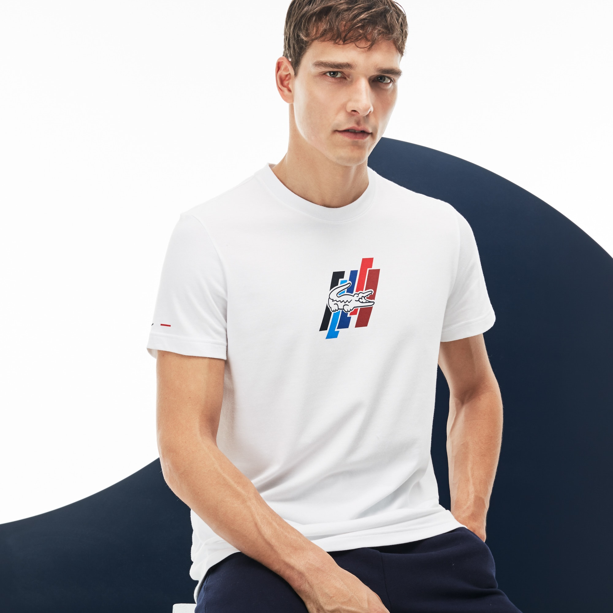 Men's Lacoste FRENCH SPORTING SPIRIT Edition Crew Neck Jersey T-shirt