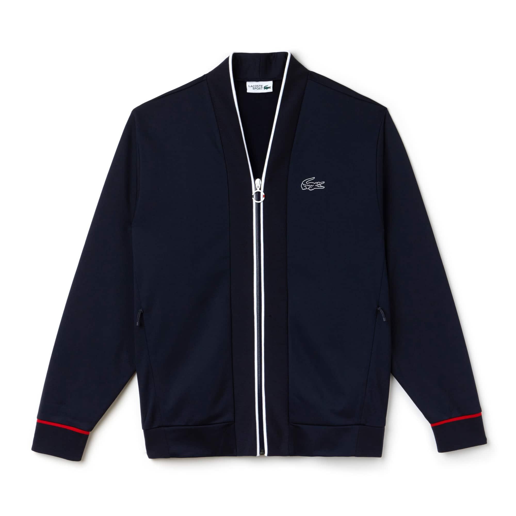 Men's Lacoste Tricolor Collection Tech Piqué Zip Sweatshirt