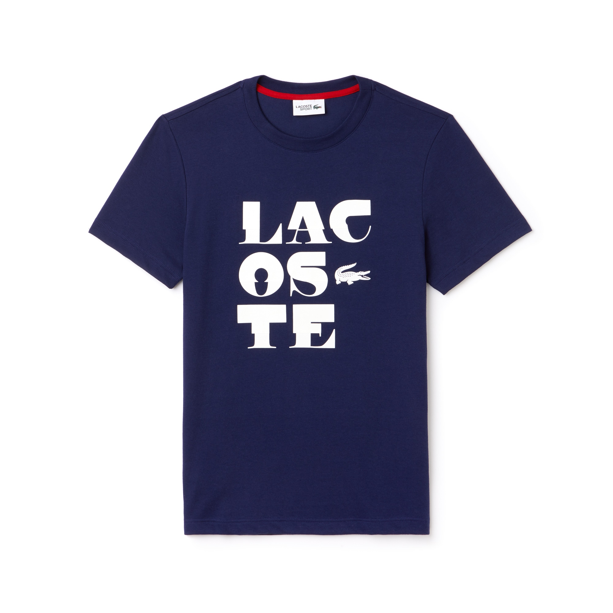 Camiseta De Hombre Lacoste SPORT Tennis En Tejido De Punto Técnico Con Inscripción Y Cuello Redondo