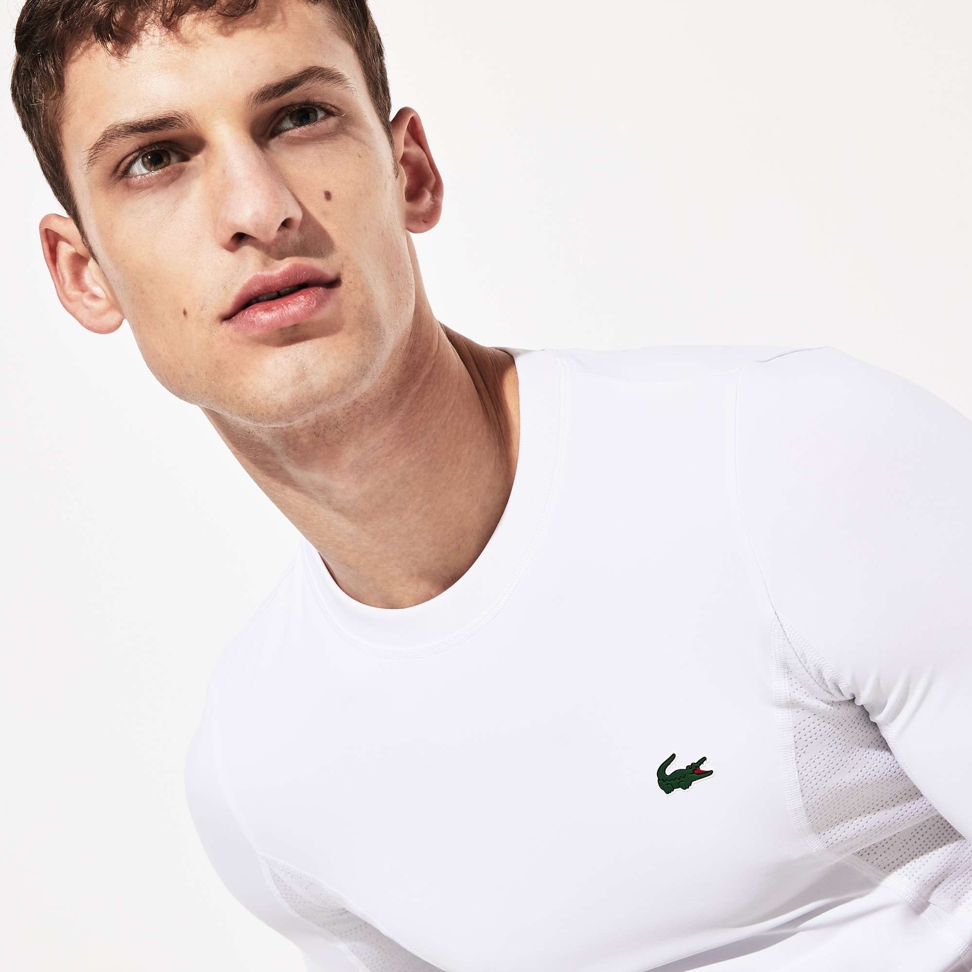 Men's Lacoste SPORT Novak Djokovic Collection Crew Neck Stretch T-shirt