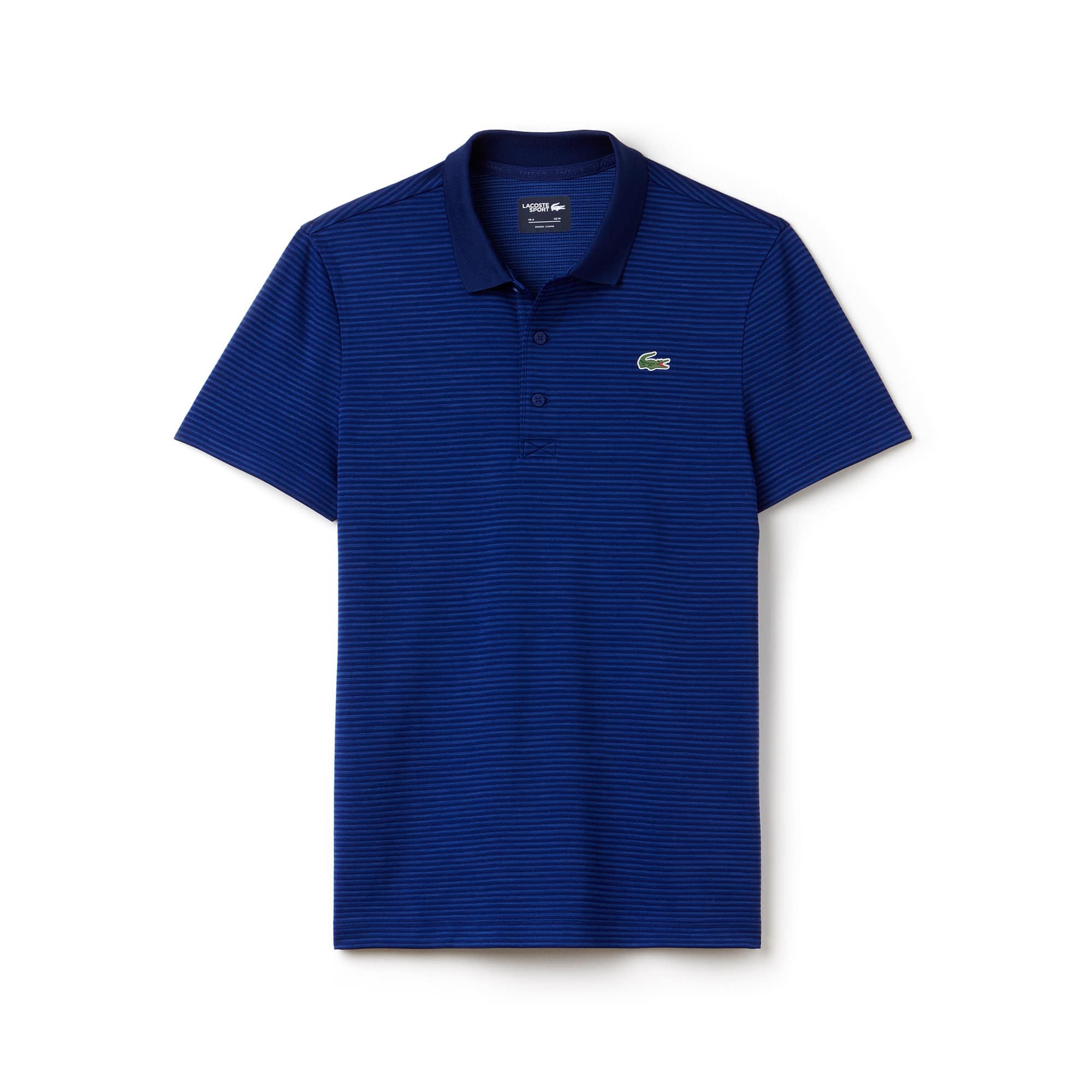 Men's Lacoste SPORT Golf Striped Tech Jersey Polo