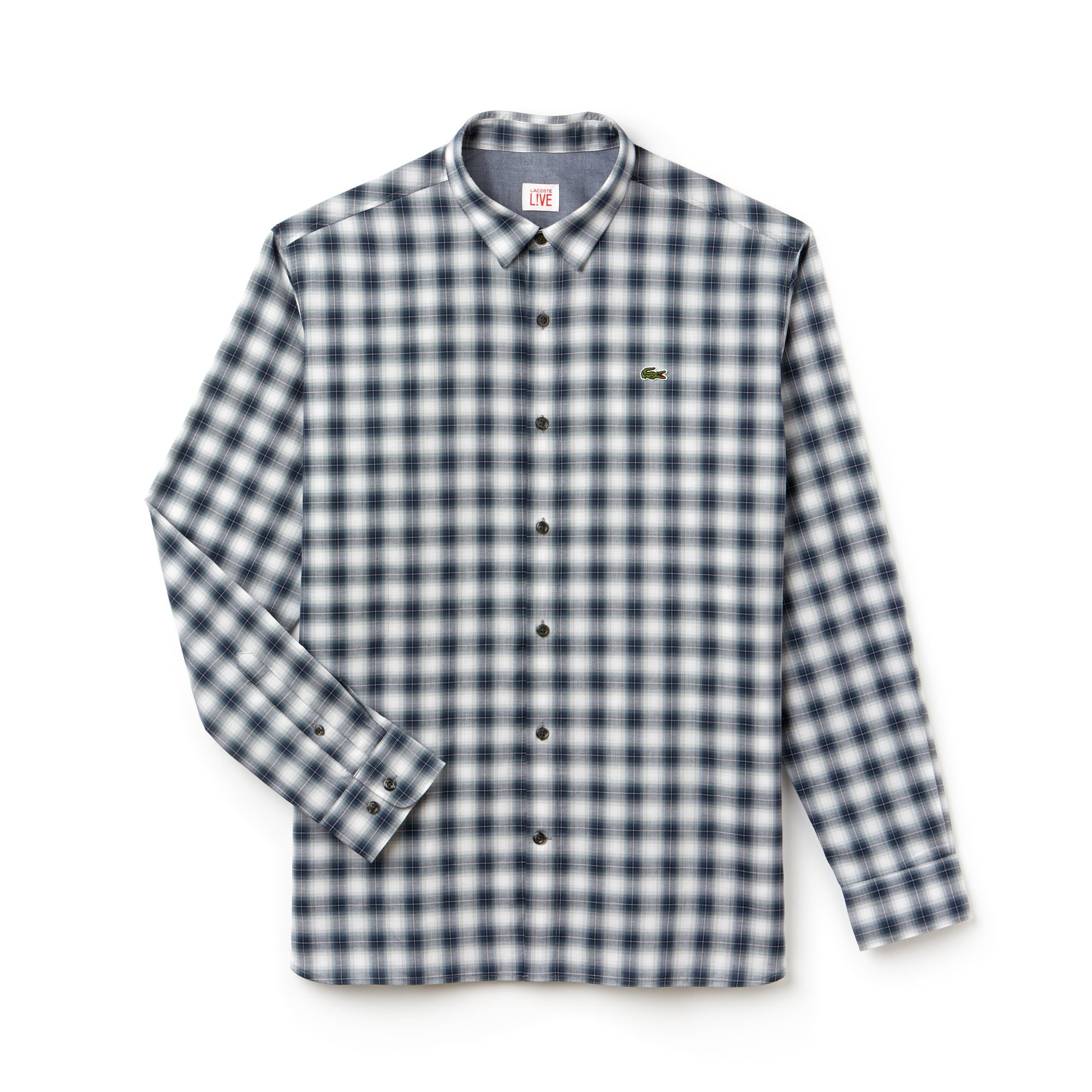 Men's Lacoste LIVE Boxy Fit Check Poplin Shirt