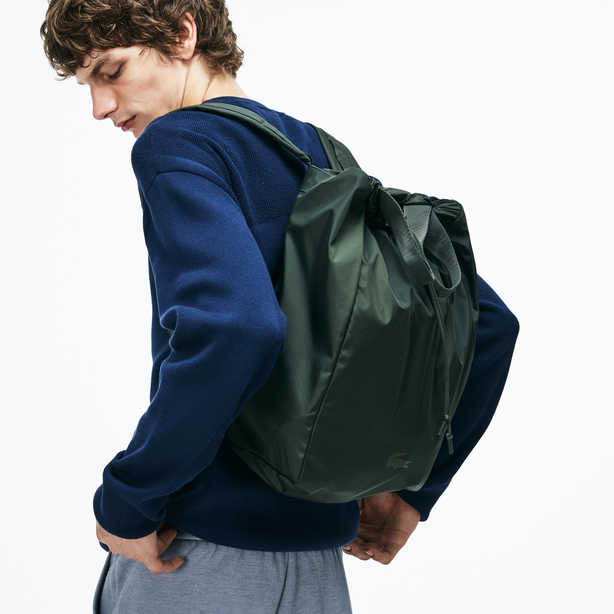 757d6827caccc Mochila Plegable De Hombre Lacoste Motion En Nylon Técnico. Color   FOREST  NIGHT
