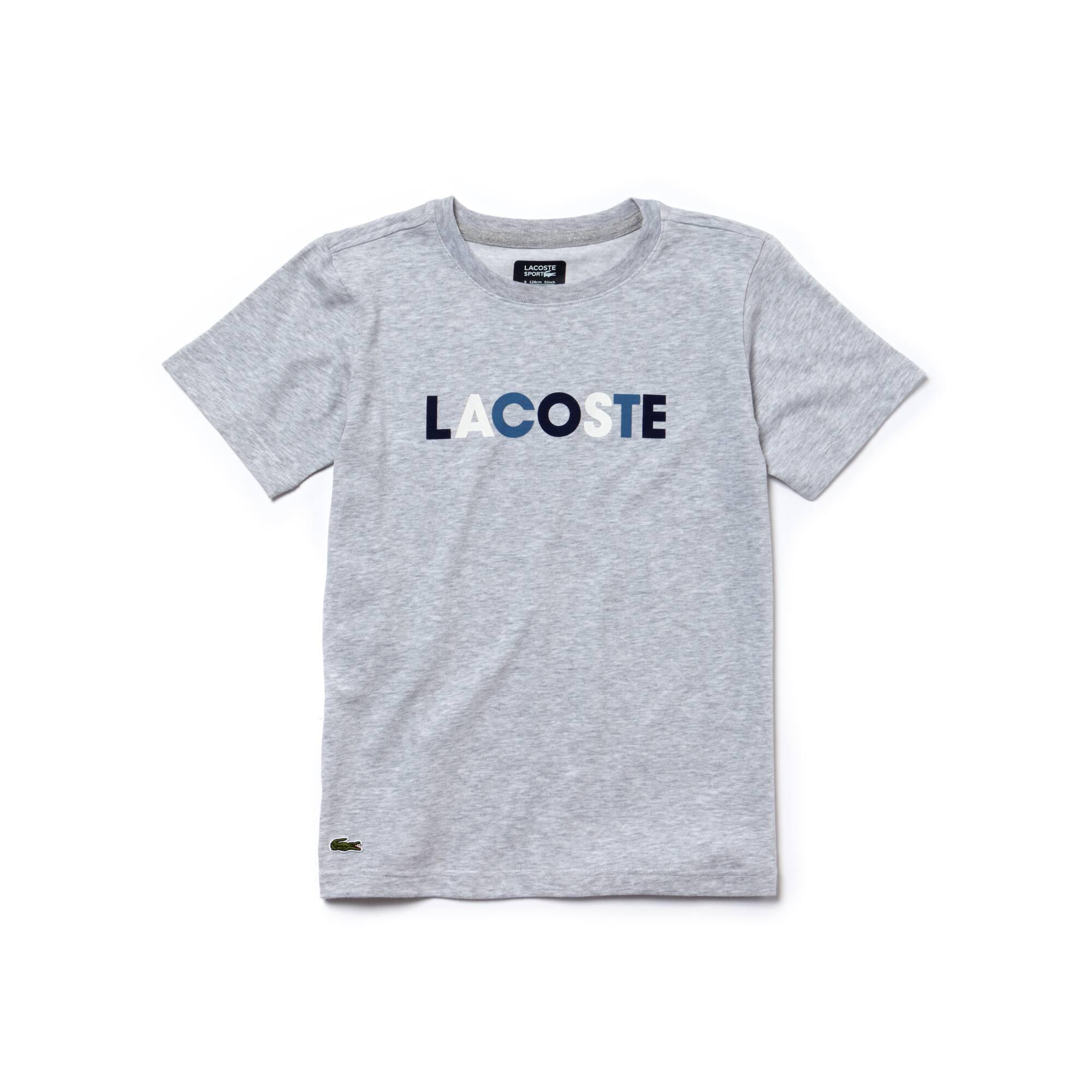Camiseta de chico de punto técnico Tenis Lacoste SPORT con las letras de la marca impresas