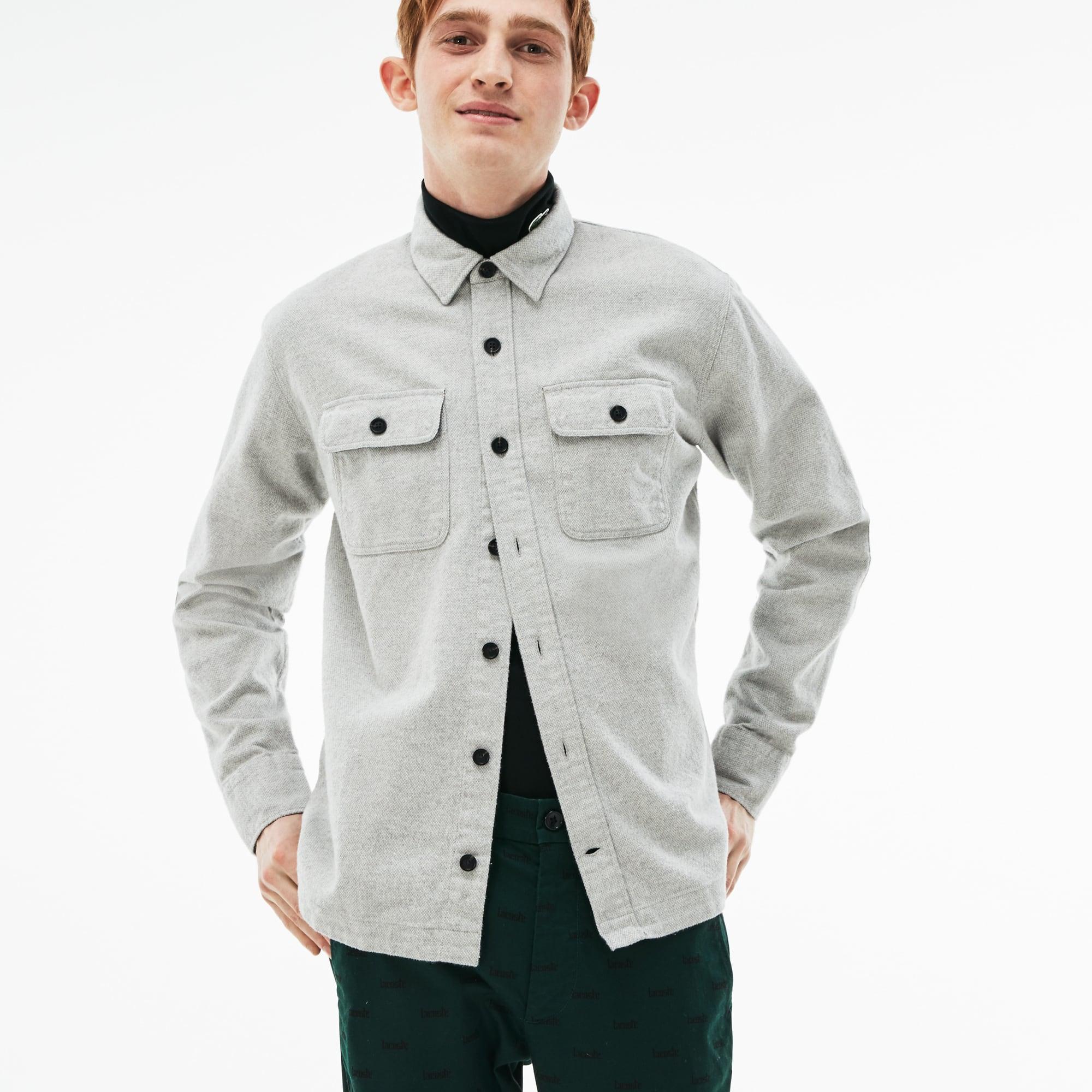 Camisa de hombre Lacoste LIVE boxy fit en franela de algodón