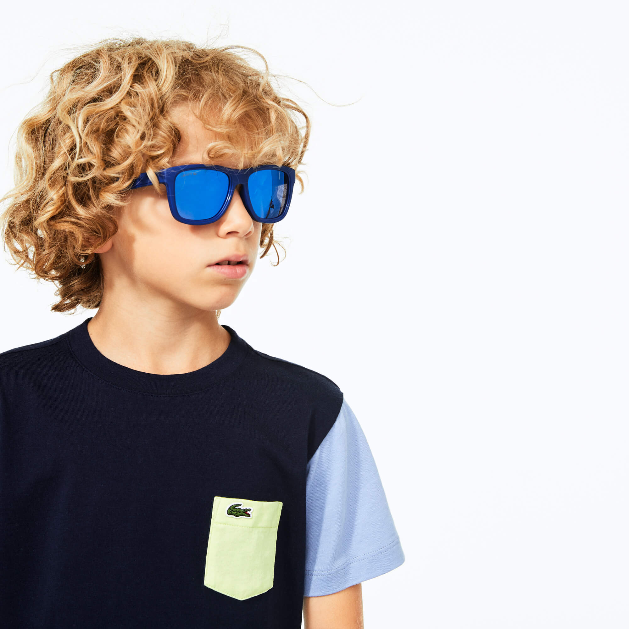Gafas de sol con montura rectangular al aire de plástico