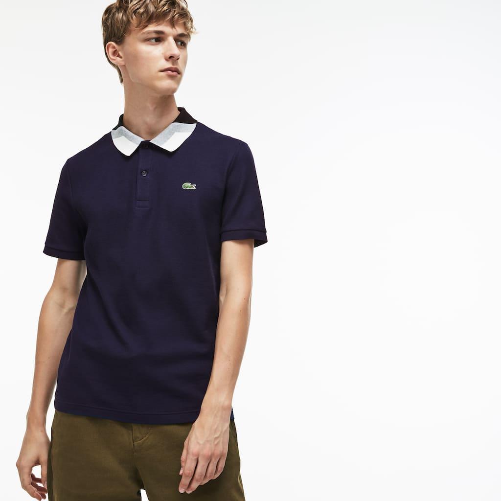 Polo De Hombre Lacoste Slim Fit En Piqué Abultado De Rayas Color Block 45f1a5f18283d