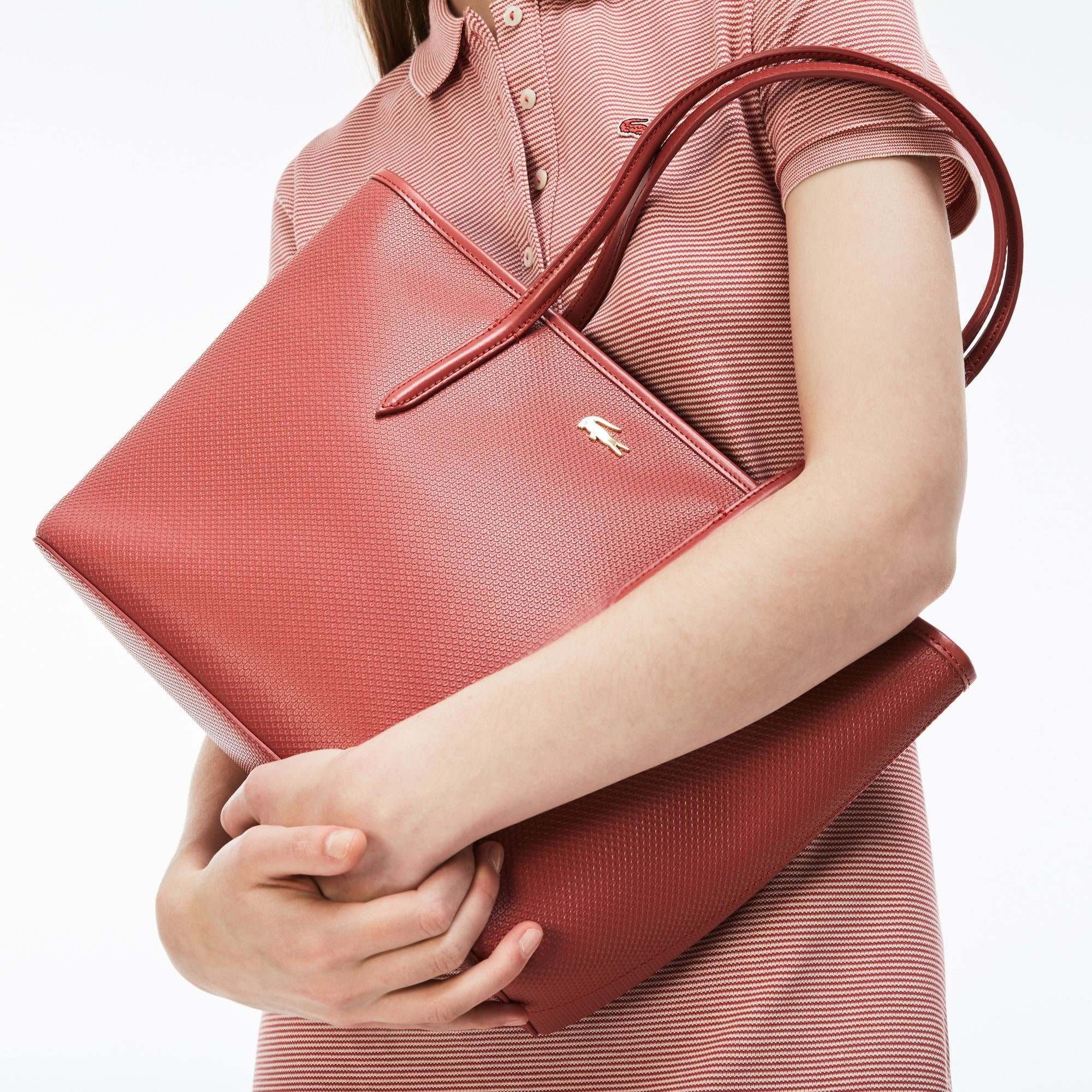 Women's Chantaco Zippered Piqué Leather Tote Bag