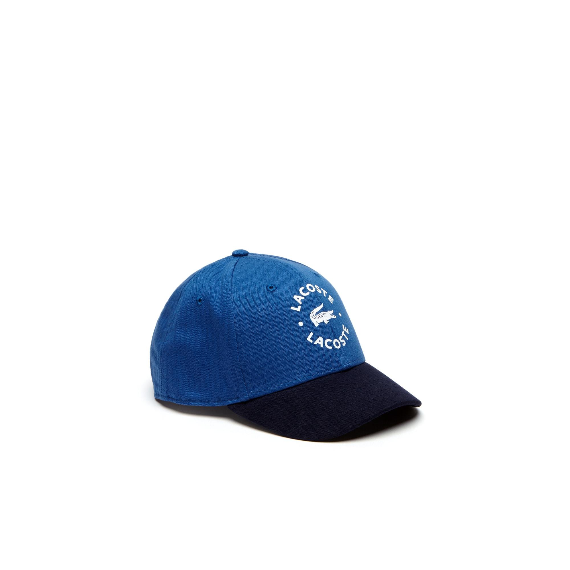 Gorra bicolor de niño de gabardina con marcado Lacoste