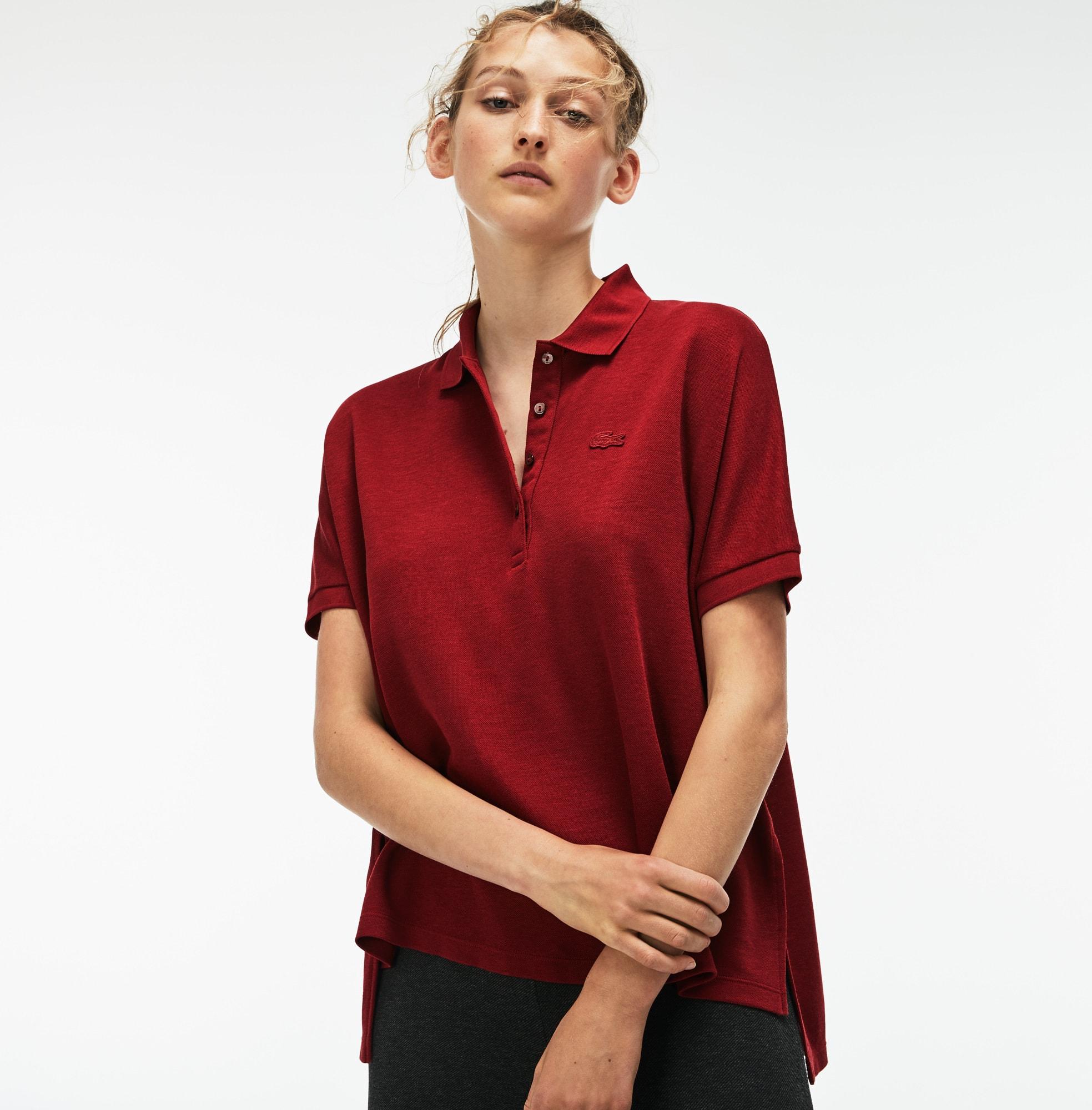 Soft Polo De Mujer Relax Fit En Piqué De Algodón Elástico Fluido