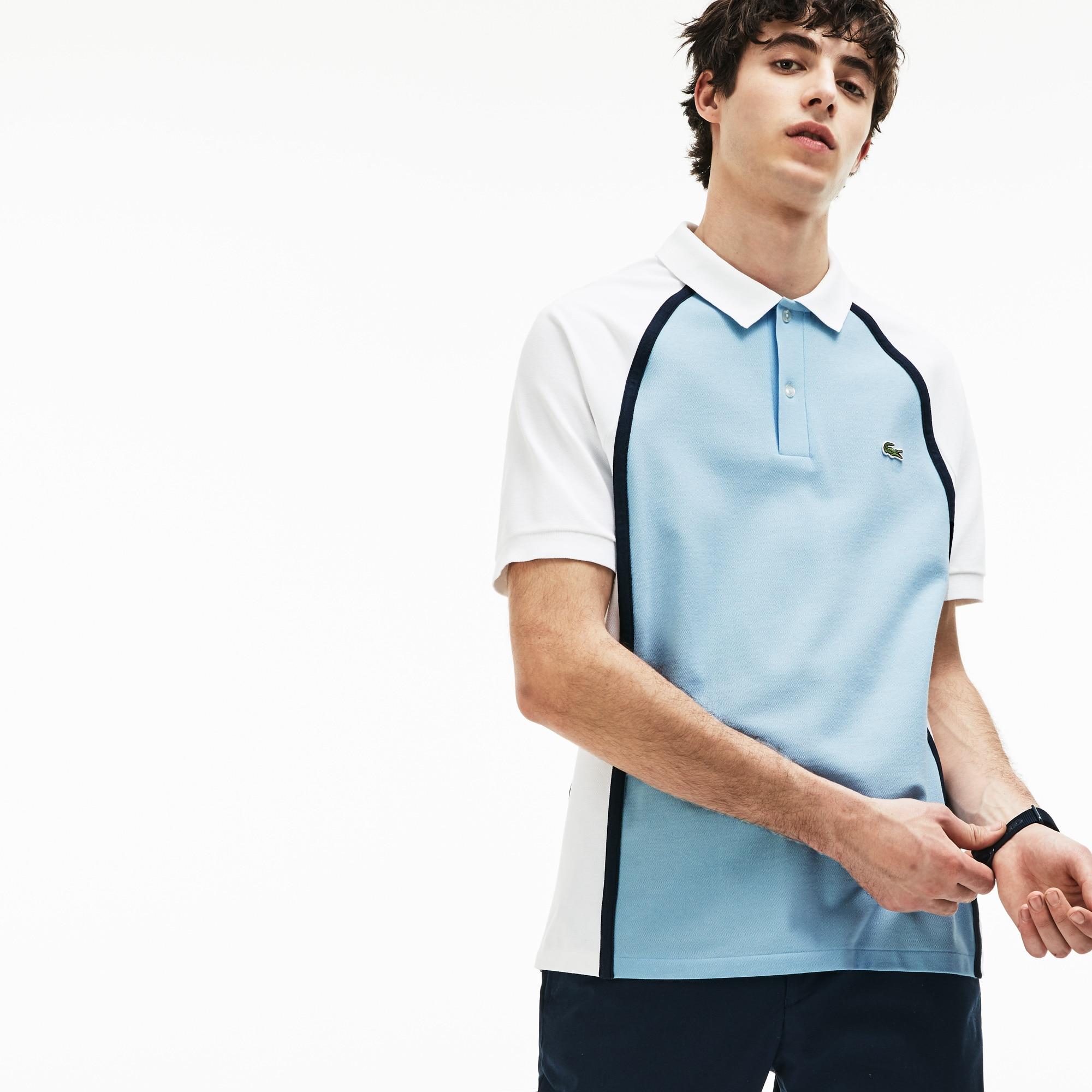 Polo Regular Fit Lacoste Made In France En Piqué Técnico Color Block