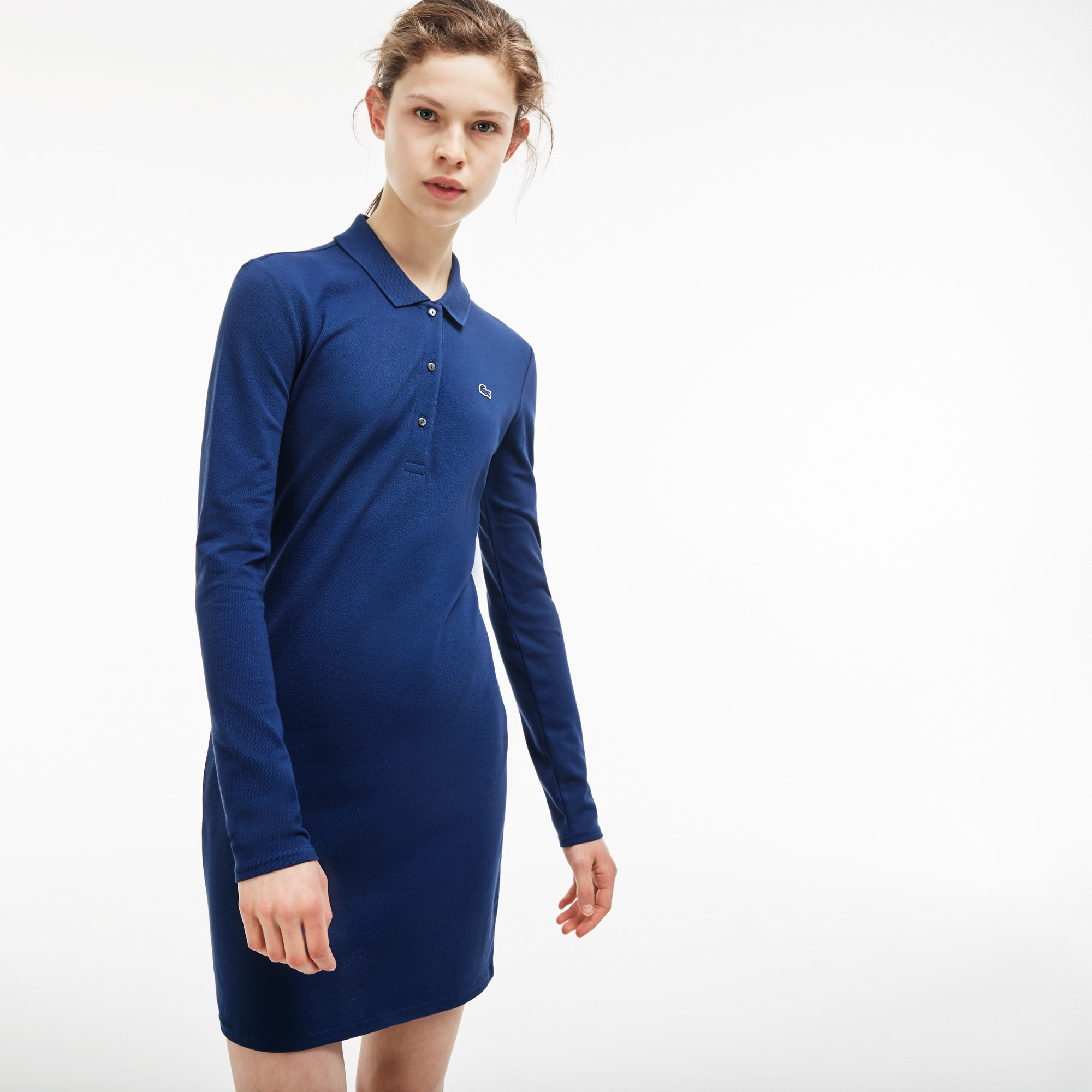 Women's Lacoste LIVE Slim Fit Stretch Piqué Polo Dress