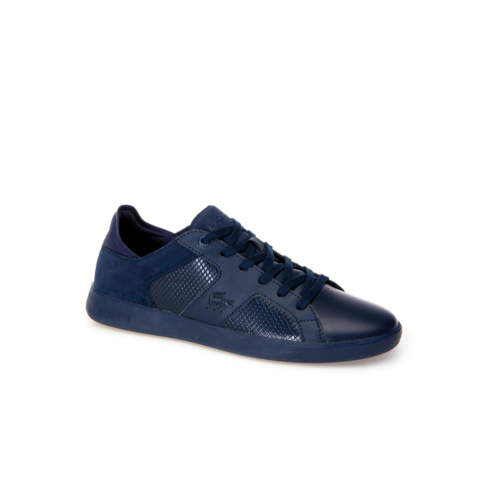 Zapatillas de hombre Novas de piel, ante y material sintético