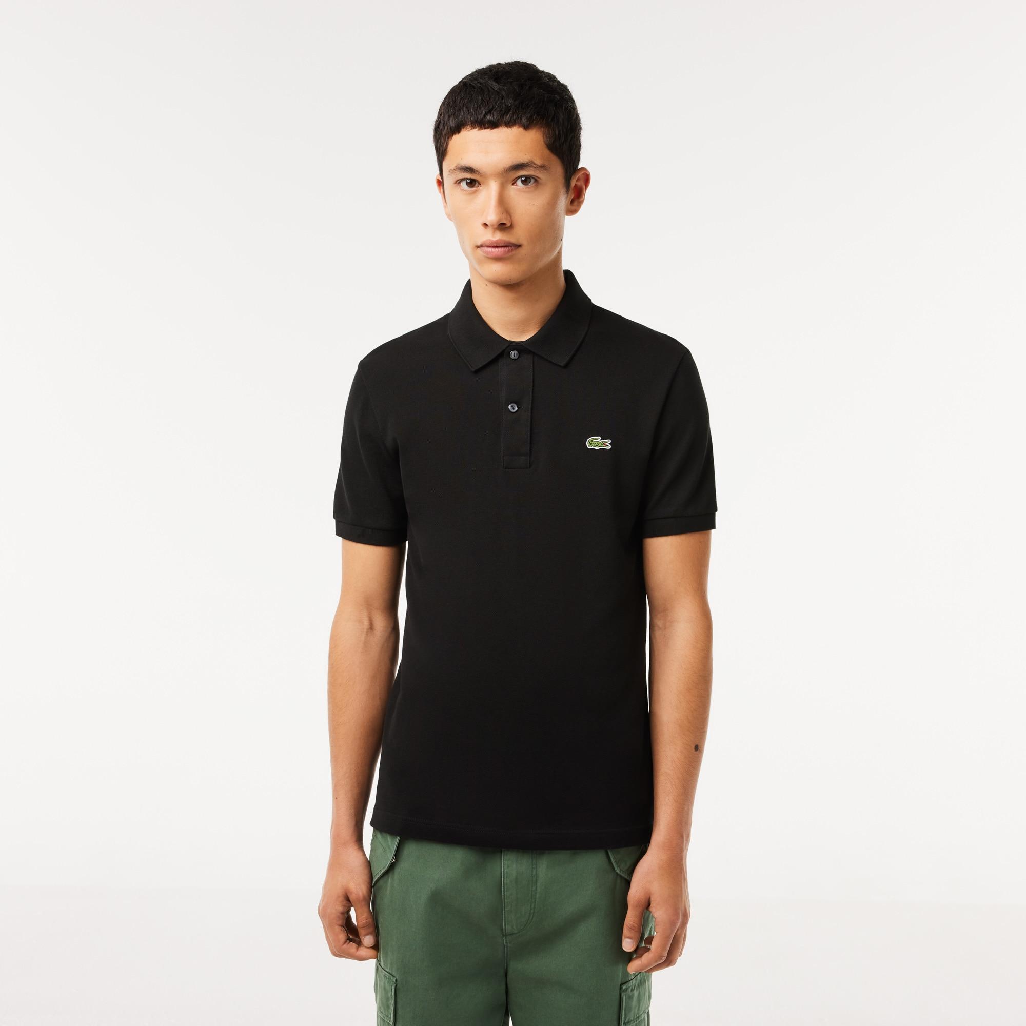 Men's Slim fit Lacoste polo in petit piqué