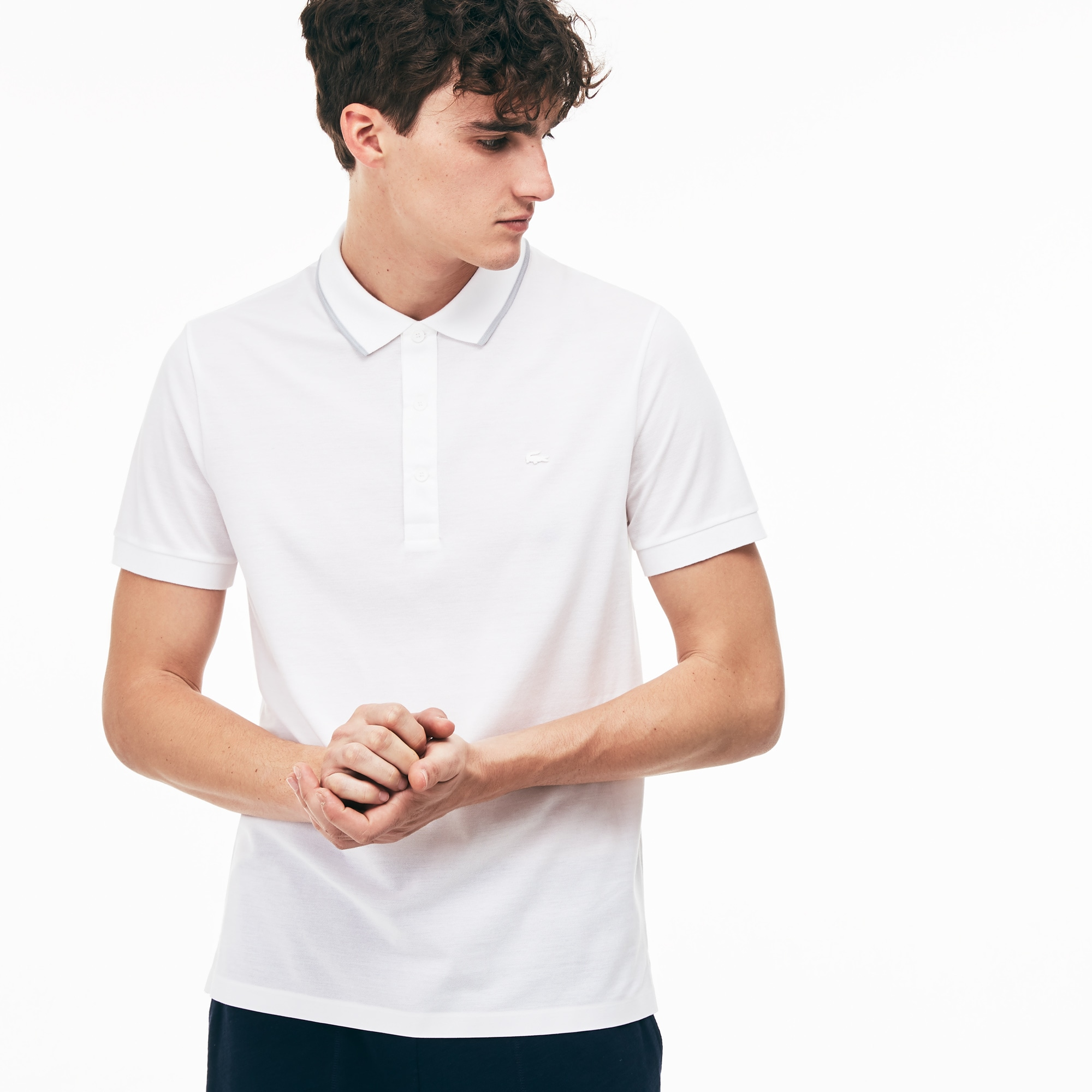 Polo regular fit Lacoste MOTION de piqué de algodón Pima