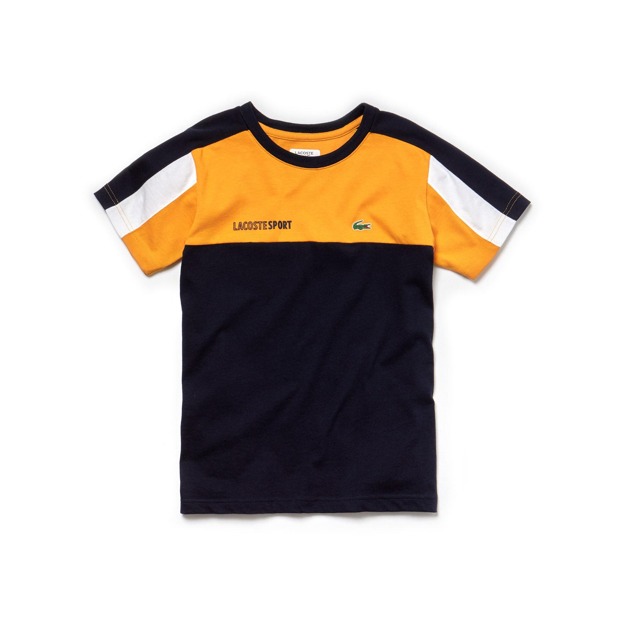 Camiseta De Niño Lacoste SPORT Tennis En Tejido De Punto Con Color Block Y Cuello Redondo