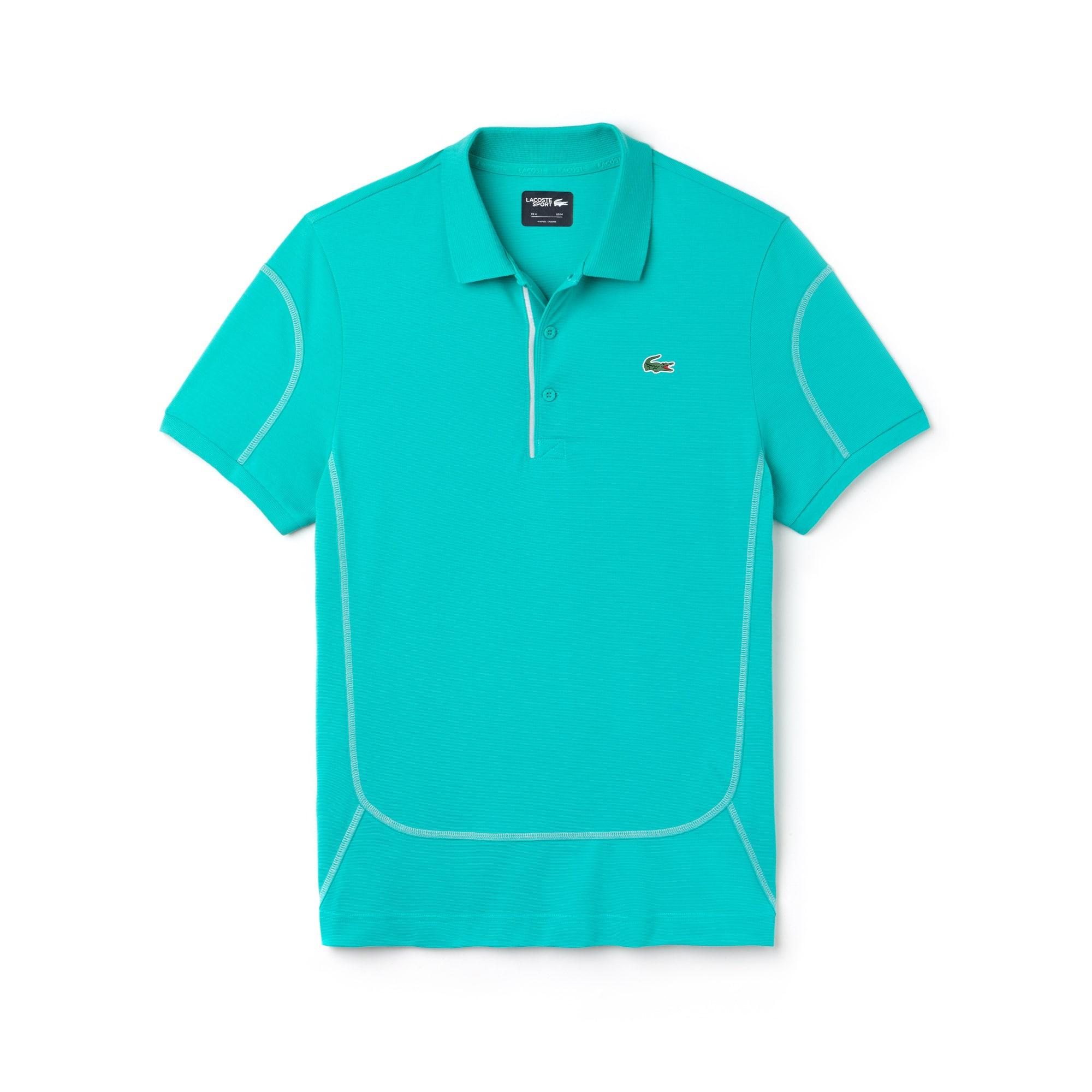 Men's Lacoste SPORT Contrast Stitching Light Cotton Tennis Polo