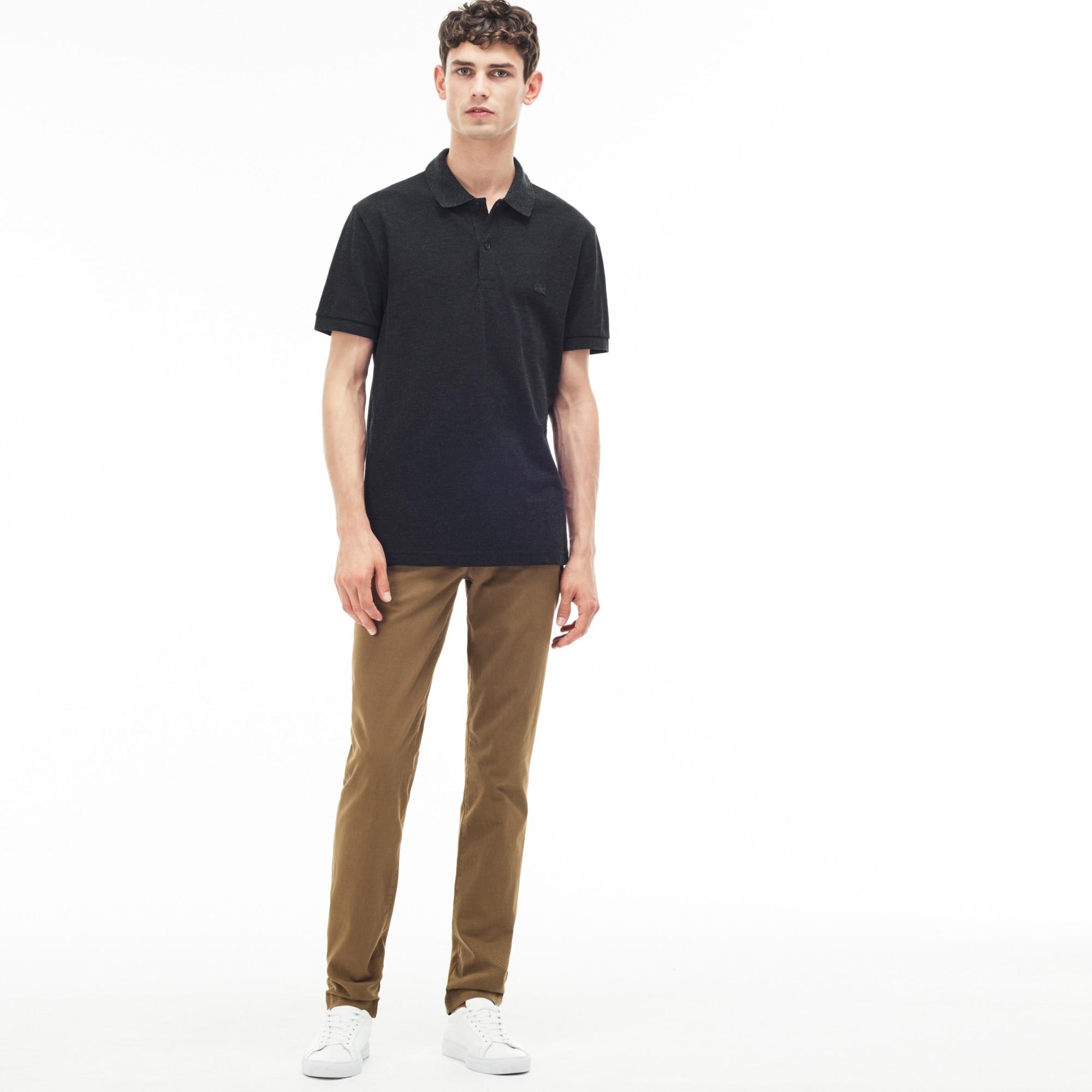 Men's Slim Fit Print Stretch Twill Chino Pants