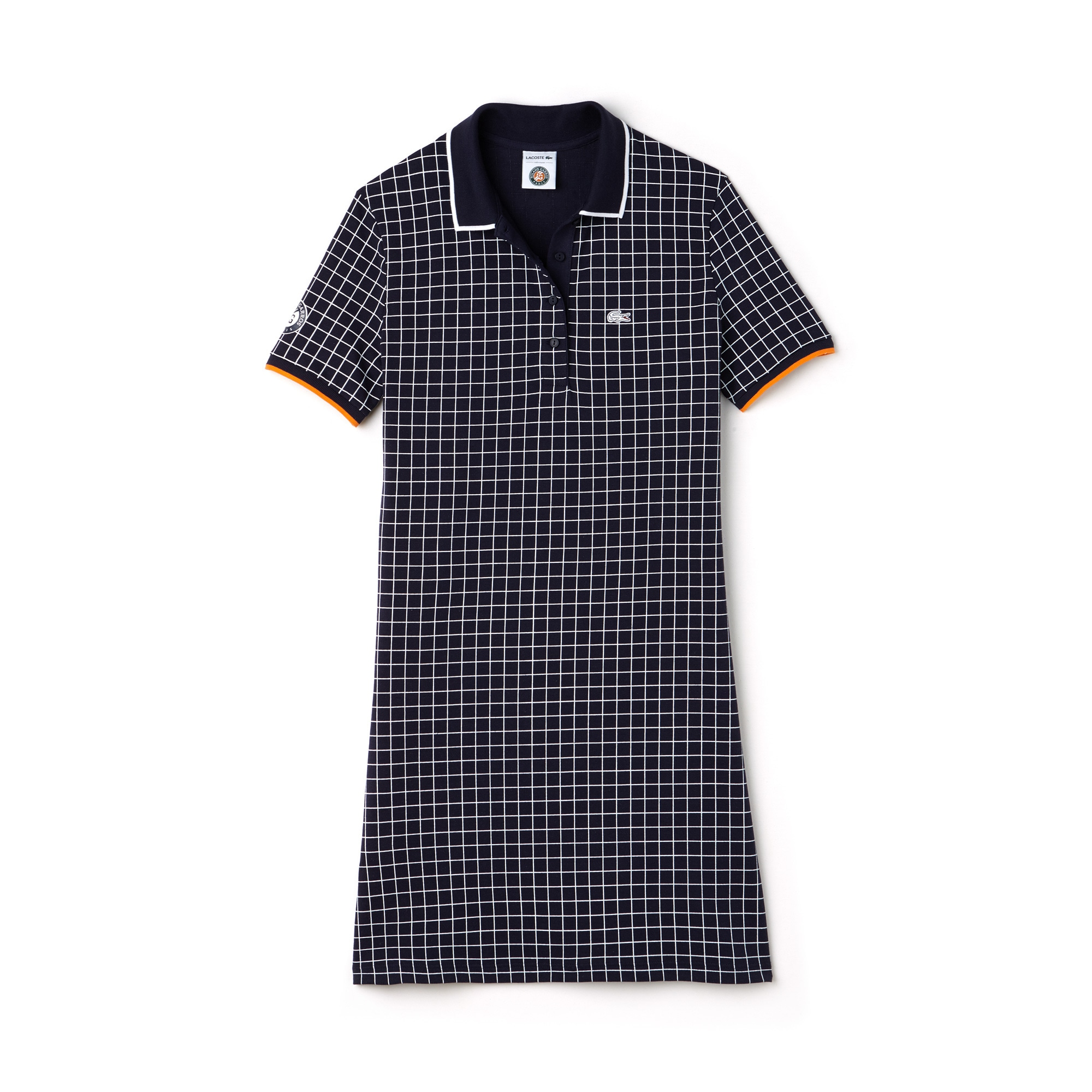 Vestido polo Lacoste SPORT de mini piqué estampado Edición Roland Garros