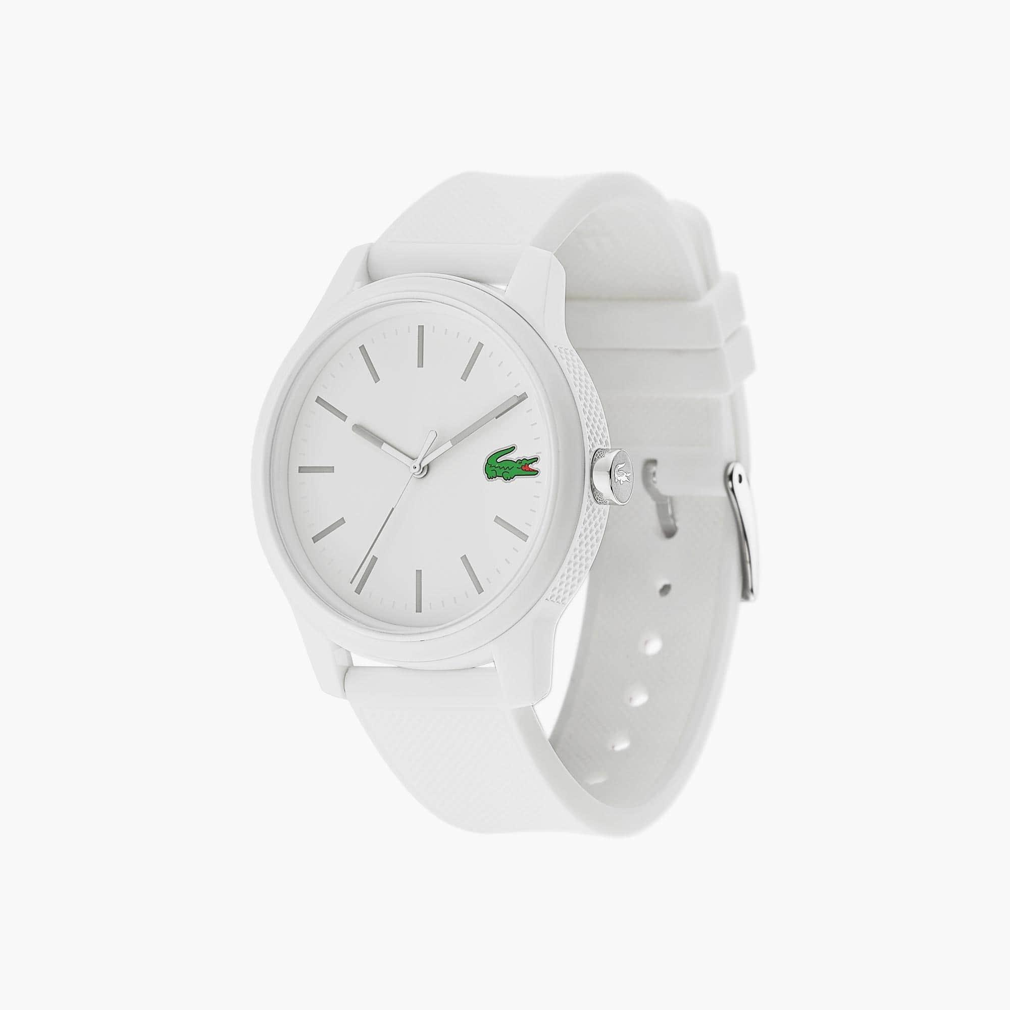 Reloj de Hombre Lacoste 12.12 con Correa de Silicona Blanca